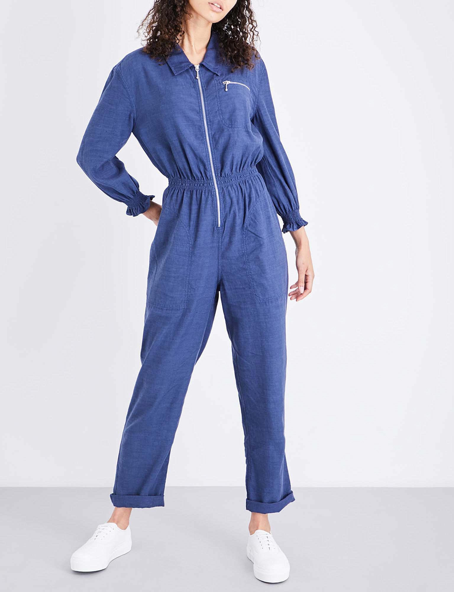 027b5714d00 Lyst - M.i.h Jeans Monty Cotton Jumpsuit in Blue