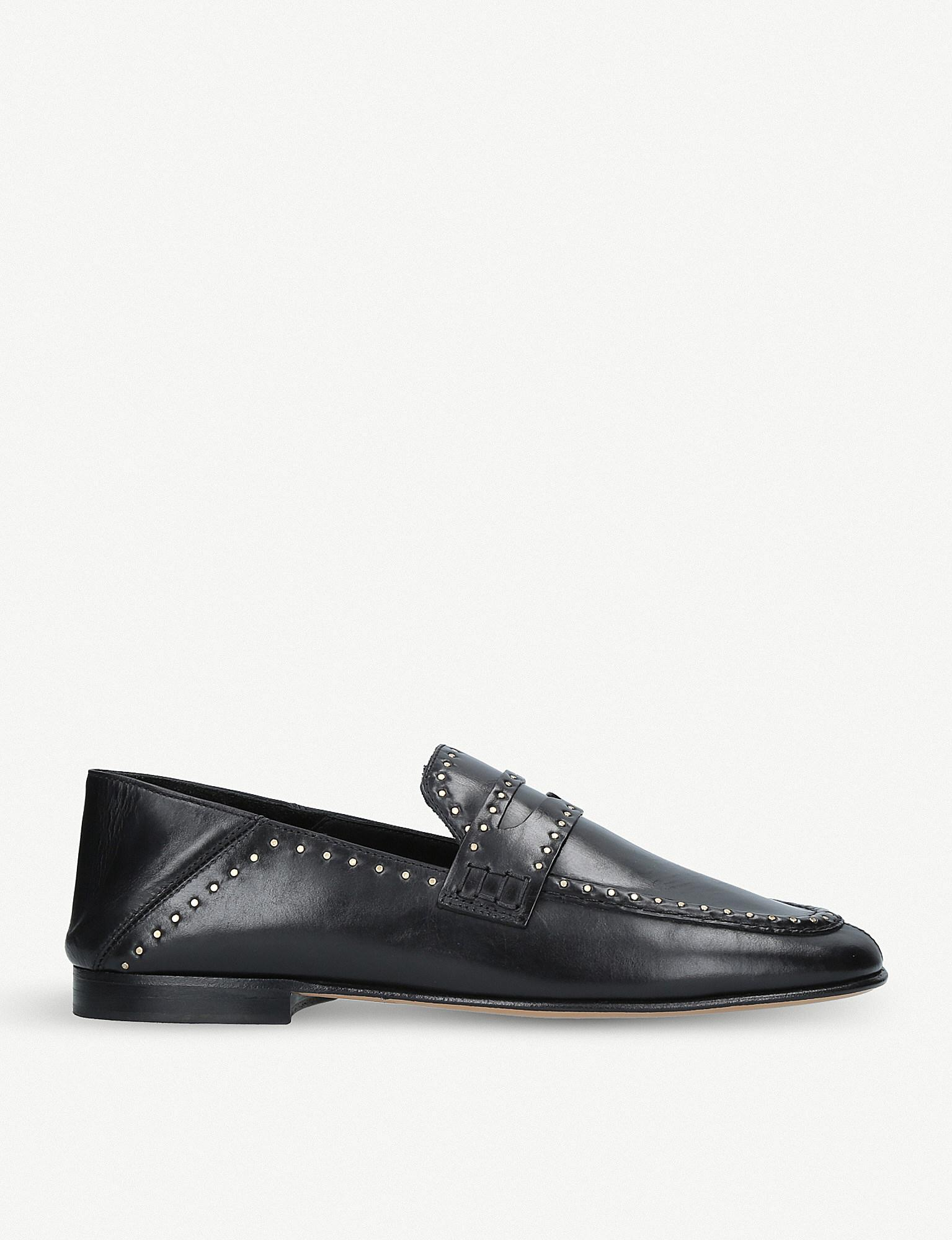 49125ada91 Lyst - Isabel Marant Fezzy Studded Leather Loafers in Black