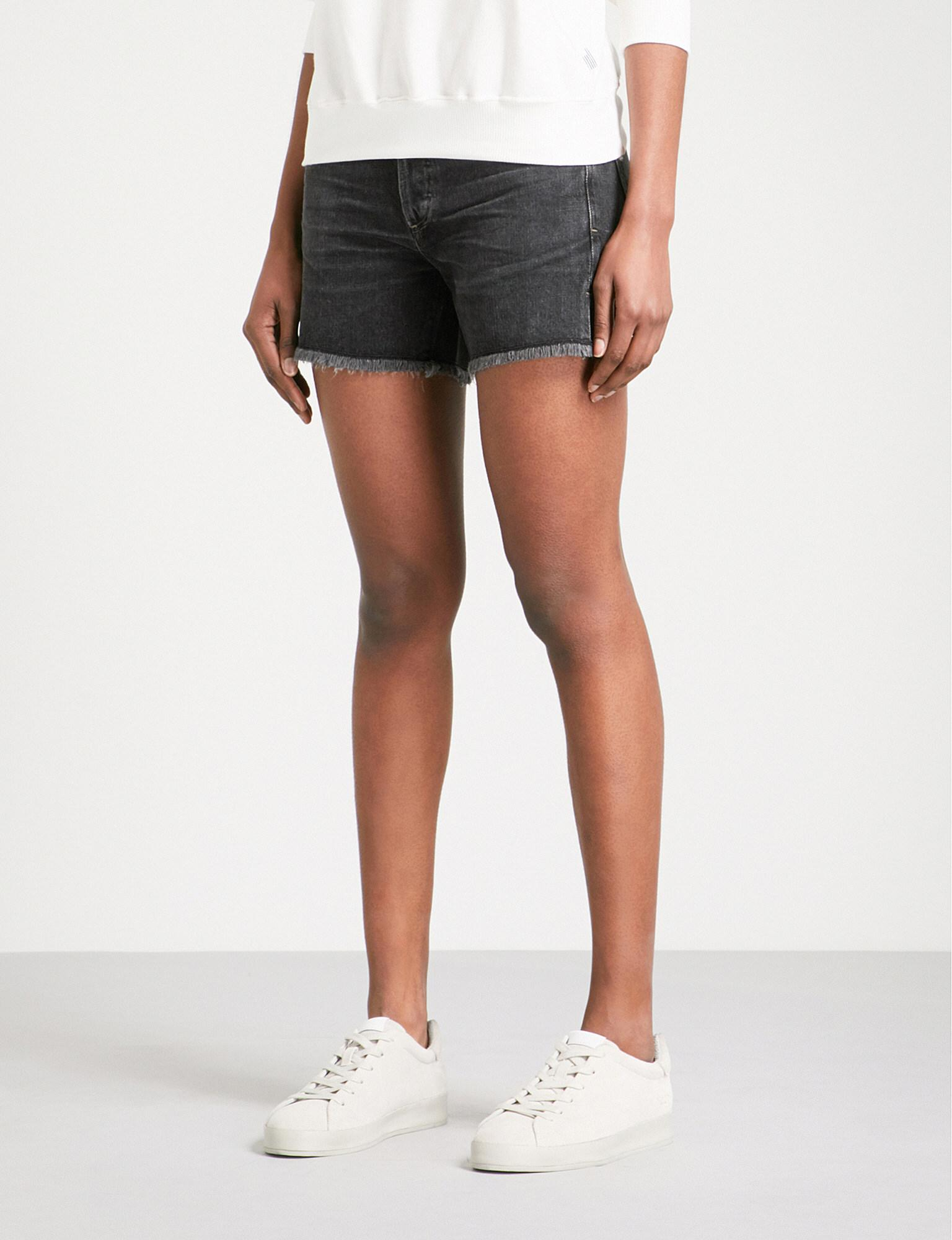 Nikki Distressed High-Rise Denim Shorts Citizens Of Humanity Low Shipping Fee Sale Online jVxTbo