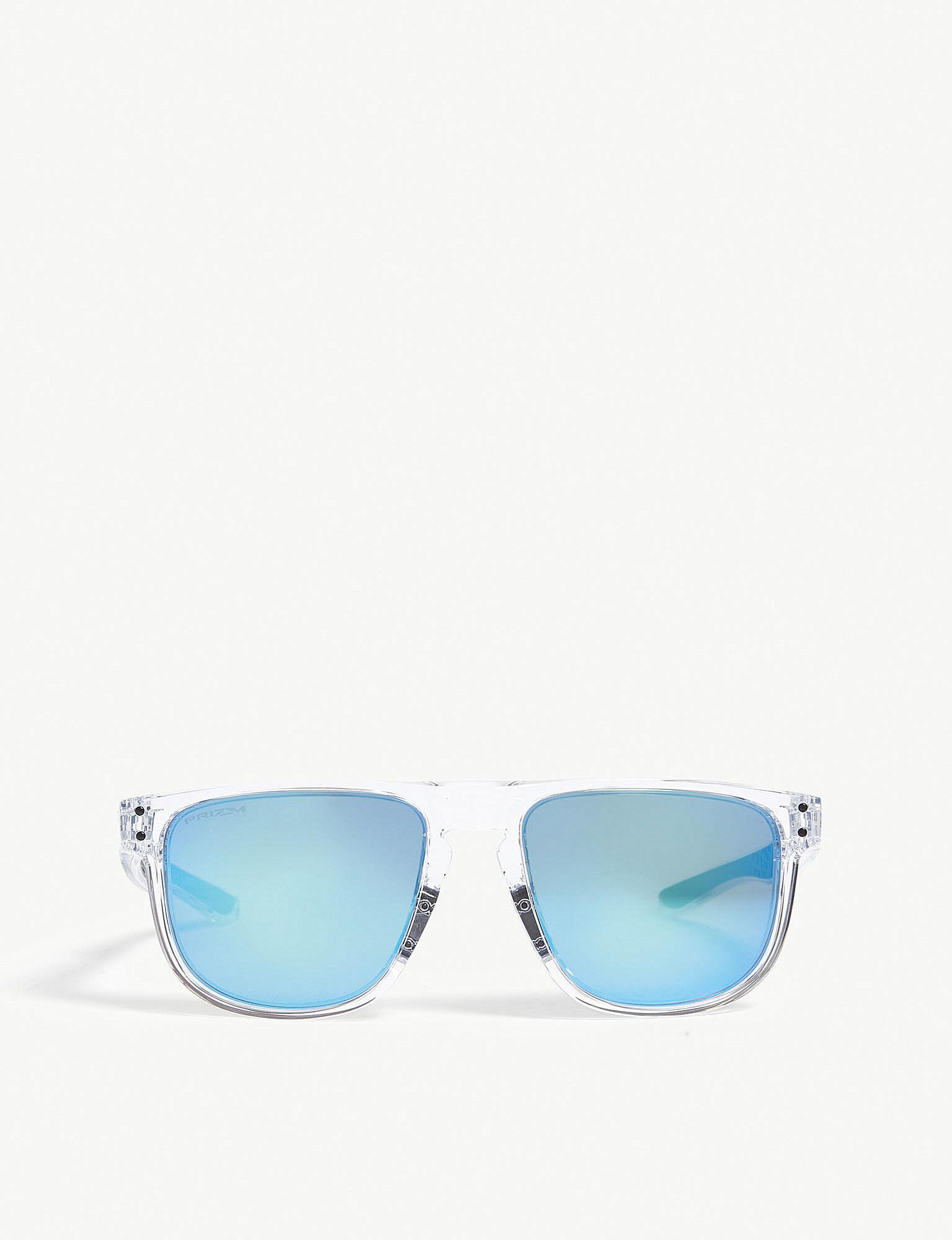 2cb9ab6aee1 Lyst - Oakley Holbrook Clear Square Sunglasses in Blue for Men