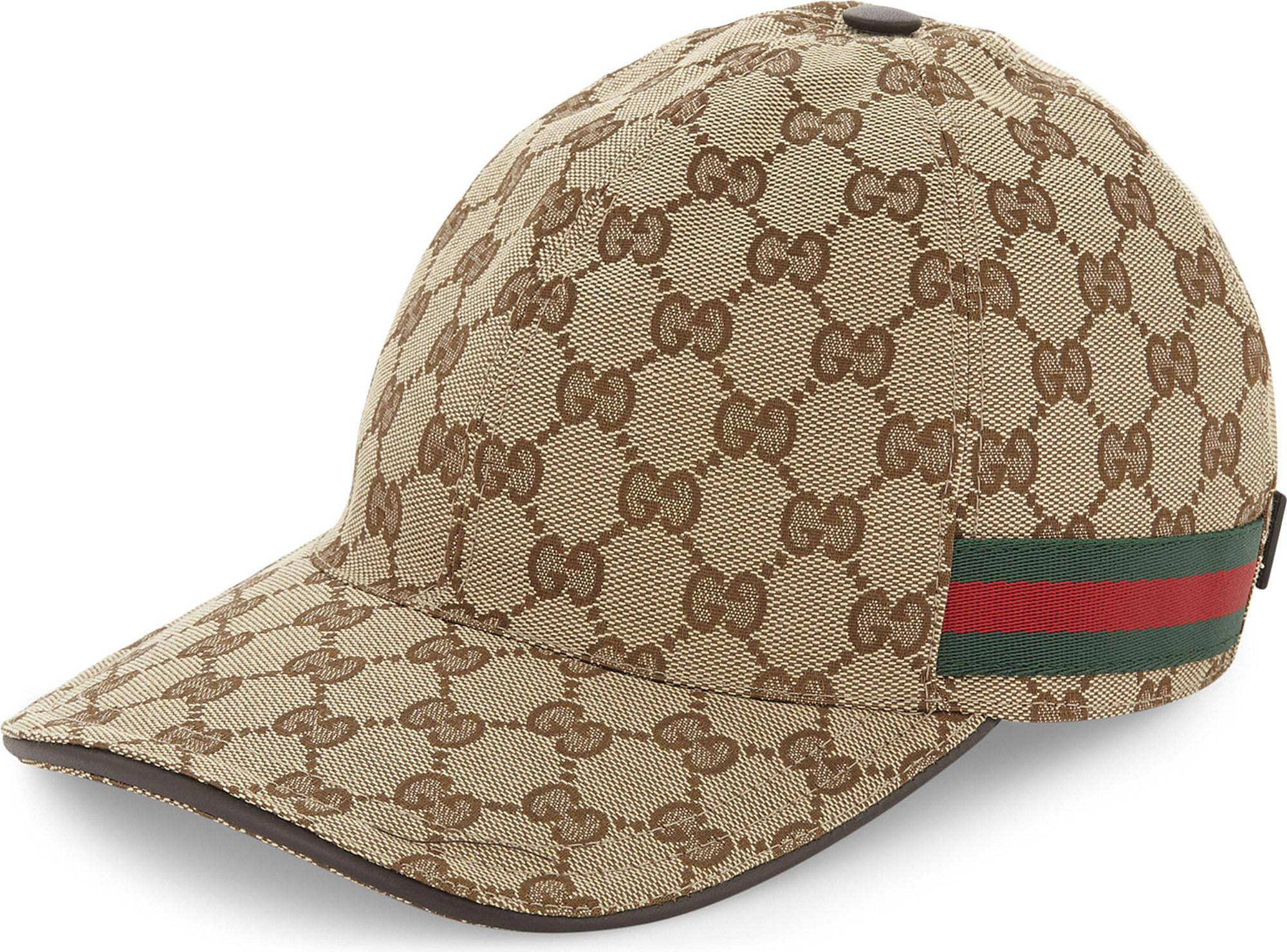 f50a95c2fb0 Gucci GG Web Stripe Baseball Cap in Brown for Men - Save 51% - Lyst