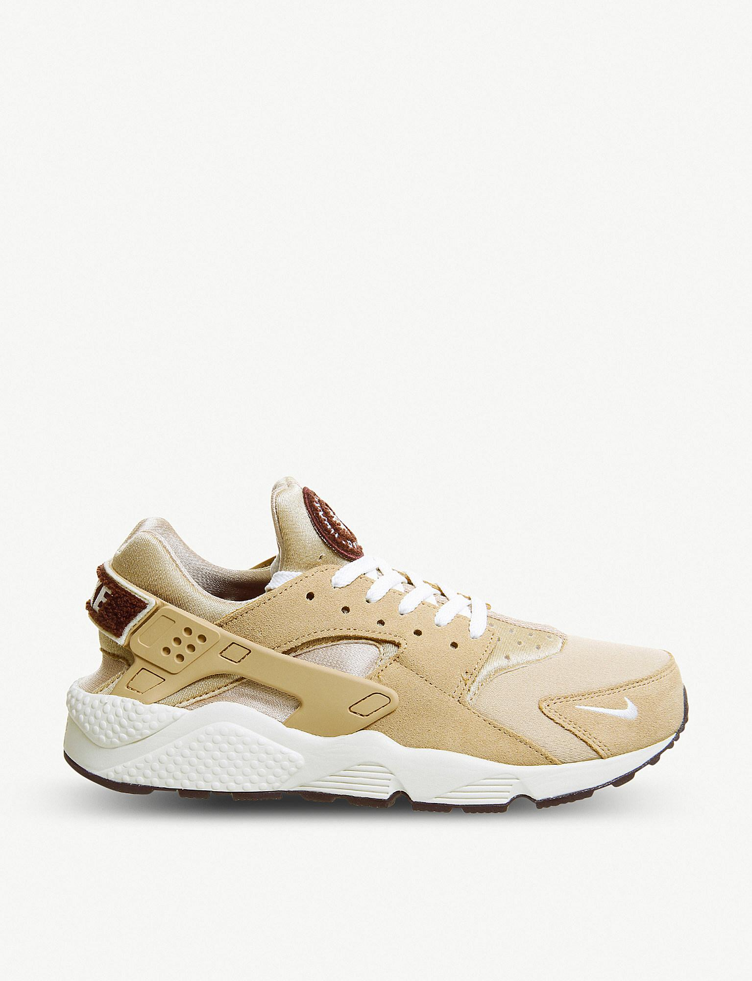 464fca4019ac8 Nike Air Huarache Suede And Neoprene Trainers in Natural for Men - Lyst
