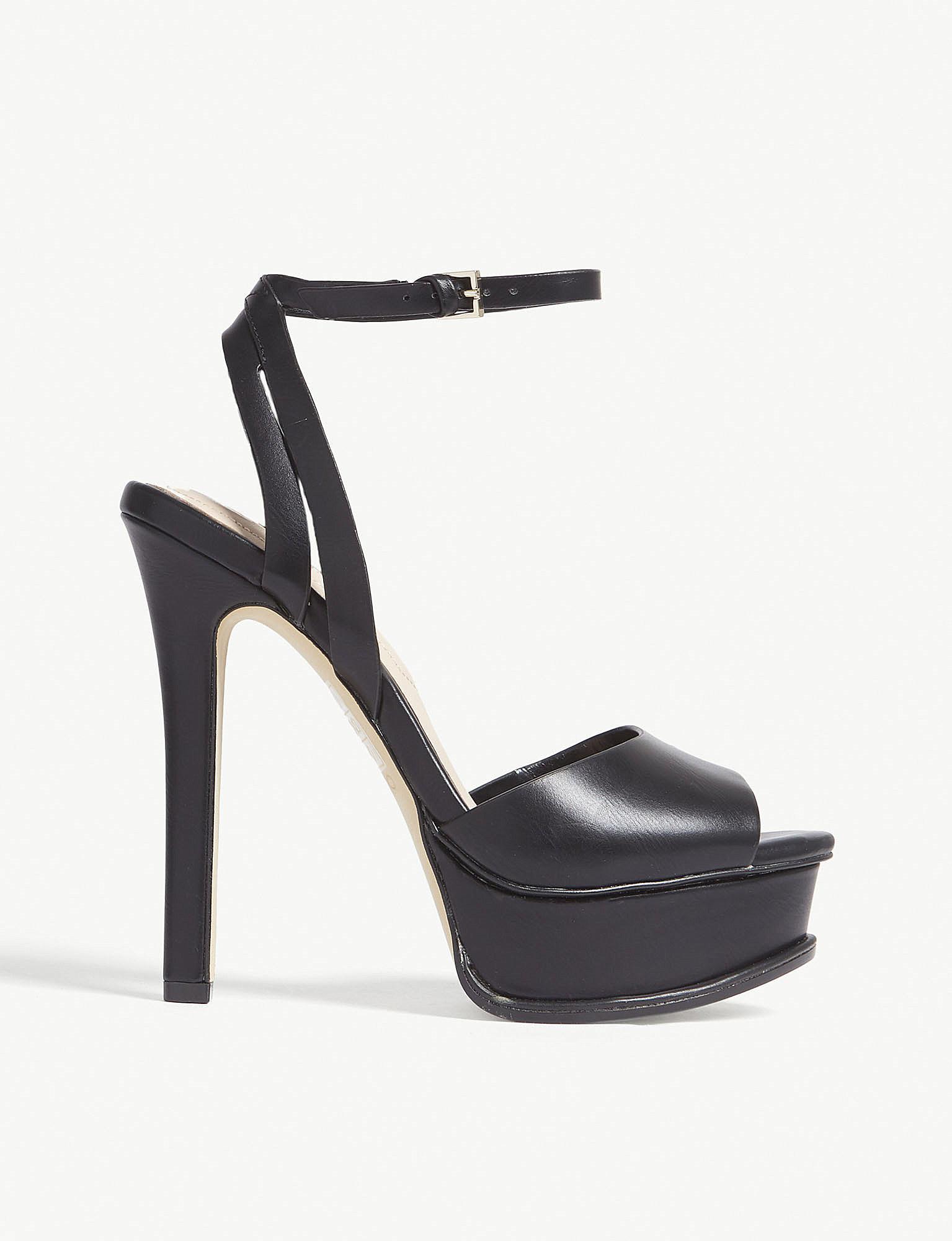 48b82fab80e5 Lyst - ALDO Eowelassa High Ankle Strap Sandals in Black