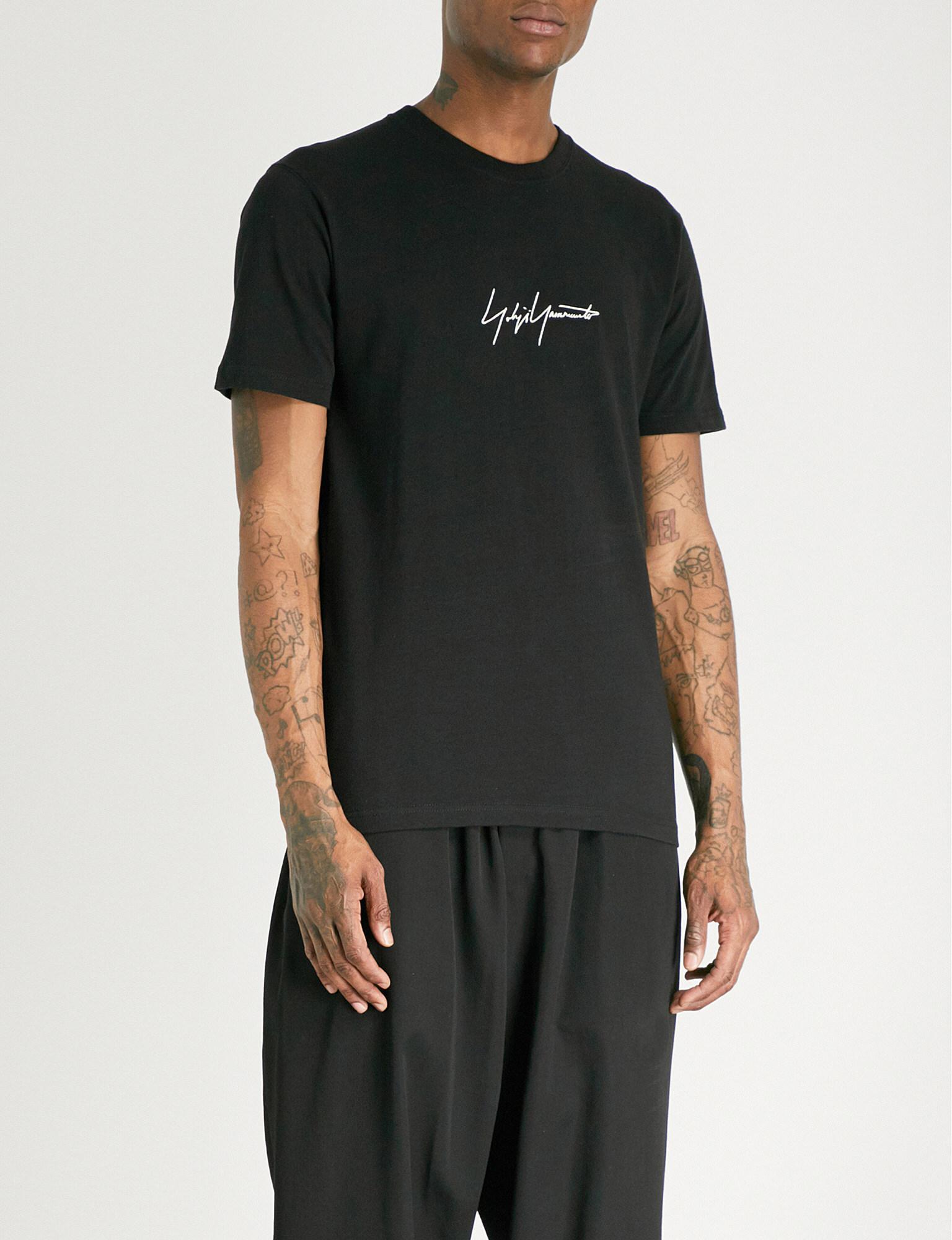 Cheapest Store Cheap Online Black Jersey Logo T-Shirt Yohji Yamamoto Manchester Great Sale Online NrsBvGRF6Y