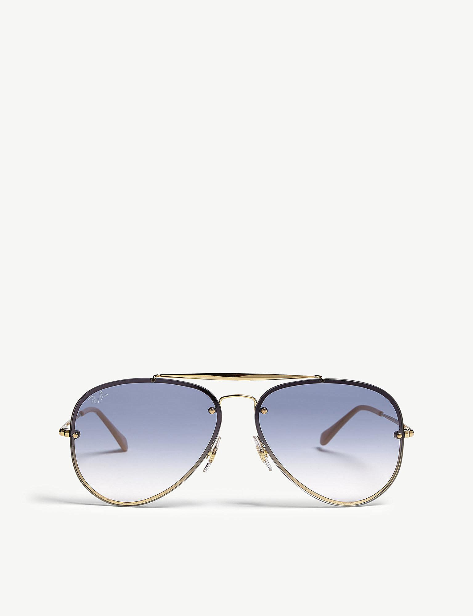 lyst ray ban blade aviator sunglasses in metallic Ray-Ban RB2132 New Wayfarer Sunglasses ray ban women s metallic blade aviator sunglasses