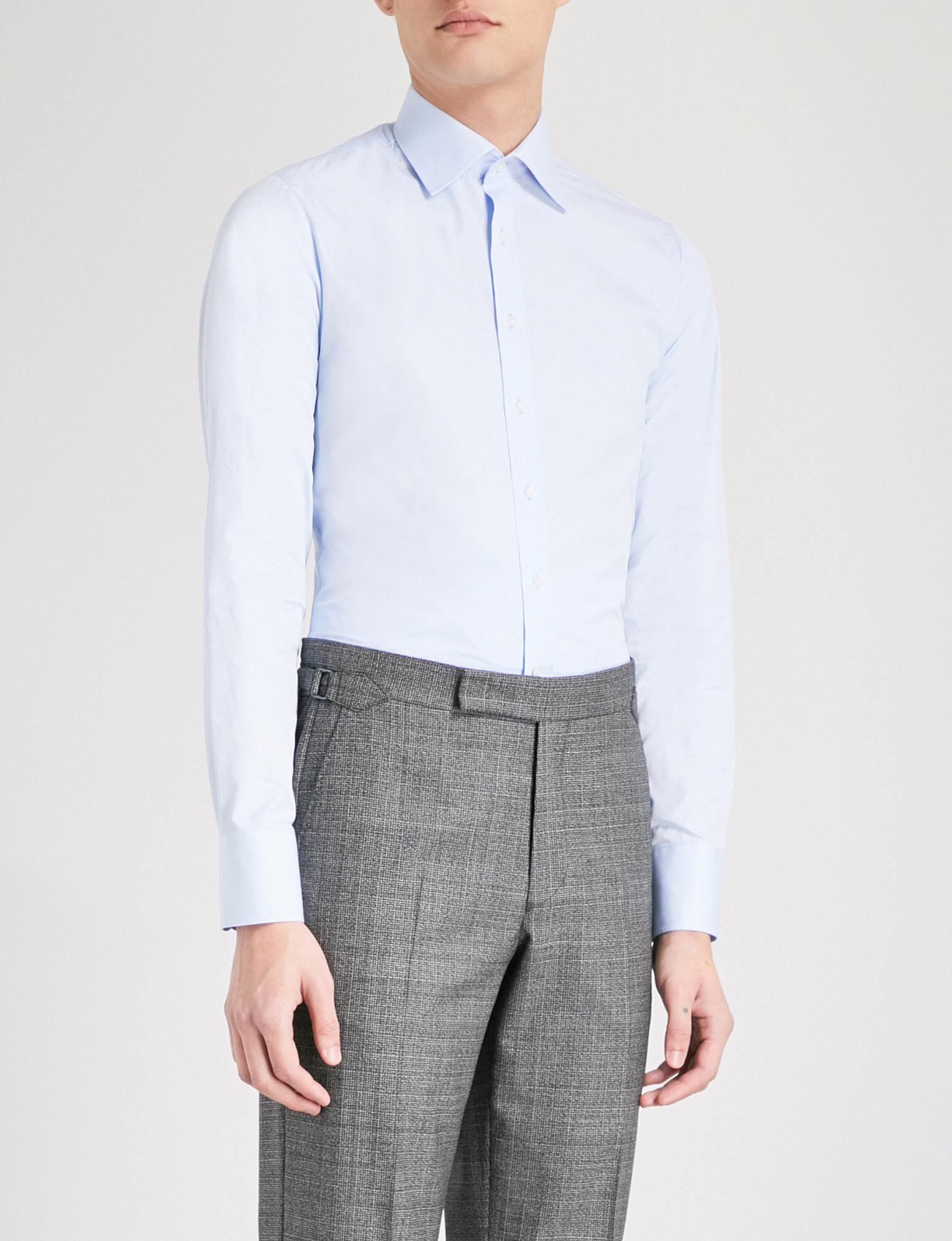 Thomas Pink Frederick Super Slim Fit Cotton Poplin Shirt