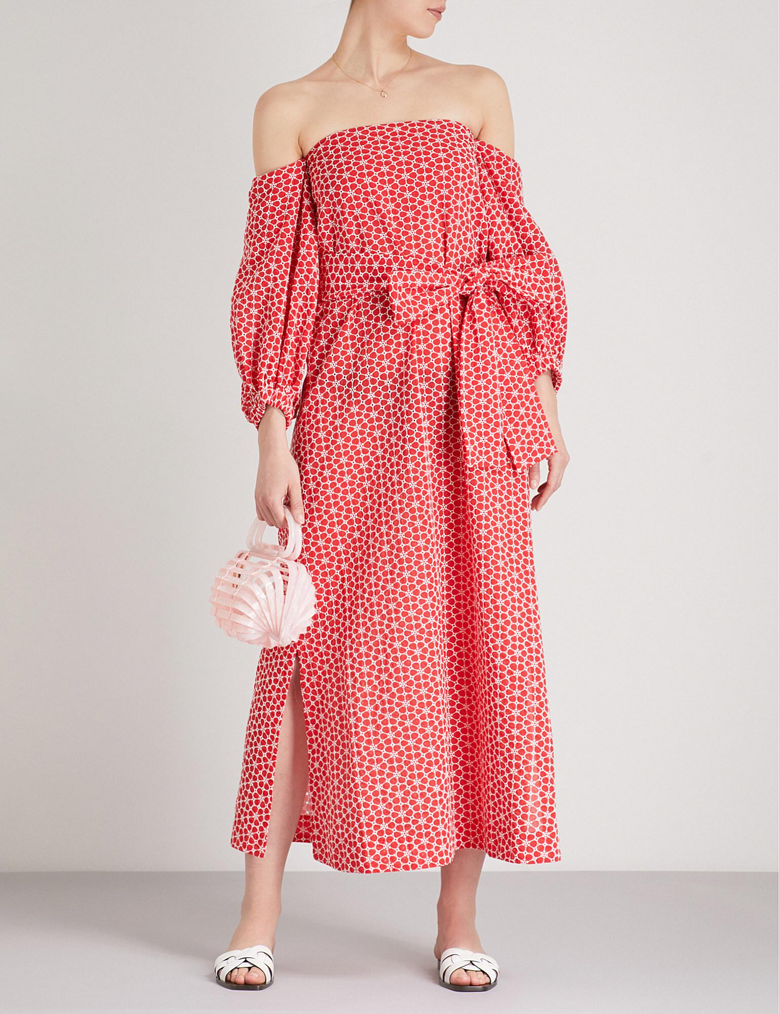 Womens Rosie Embroidered Linen Dress Lisa Marie Fernandez IZe9Z