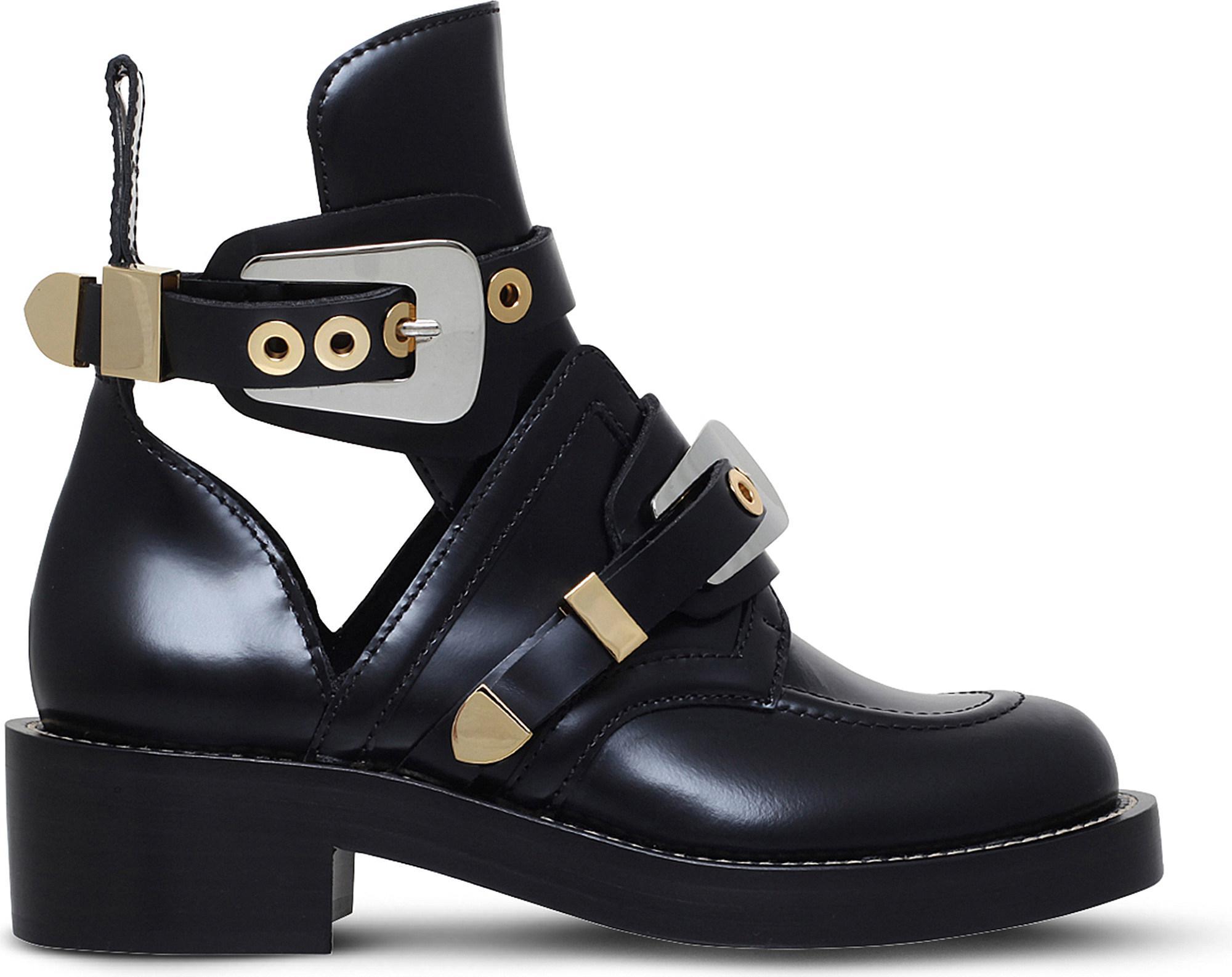 5806dddd185a Lyst - Balenciaga Women s Ceinture Ankle Boots in Black - Save 40%