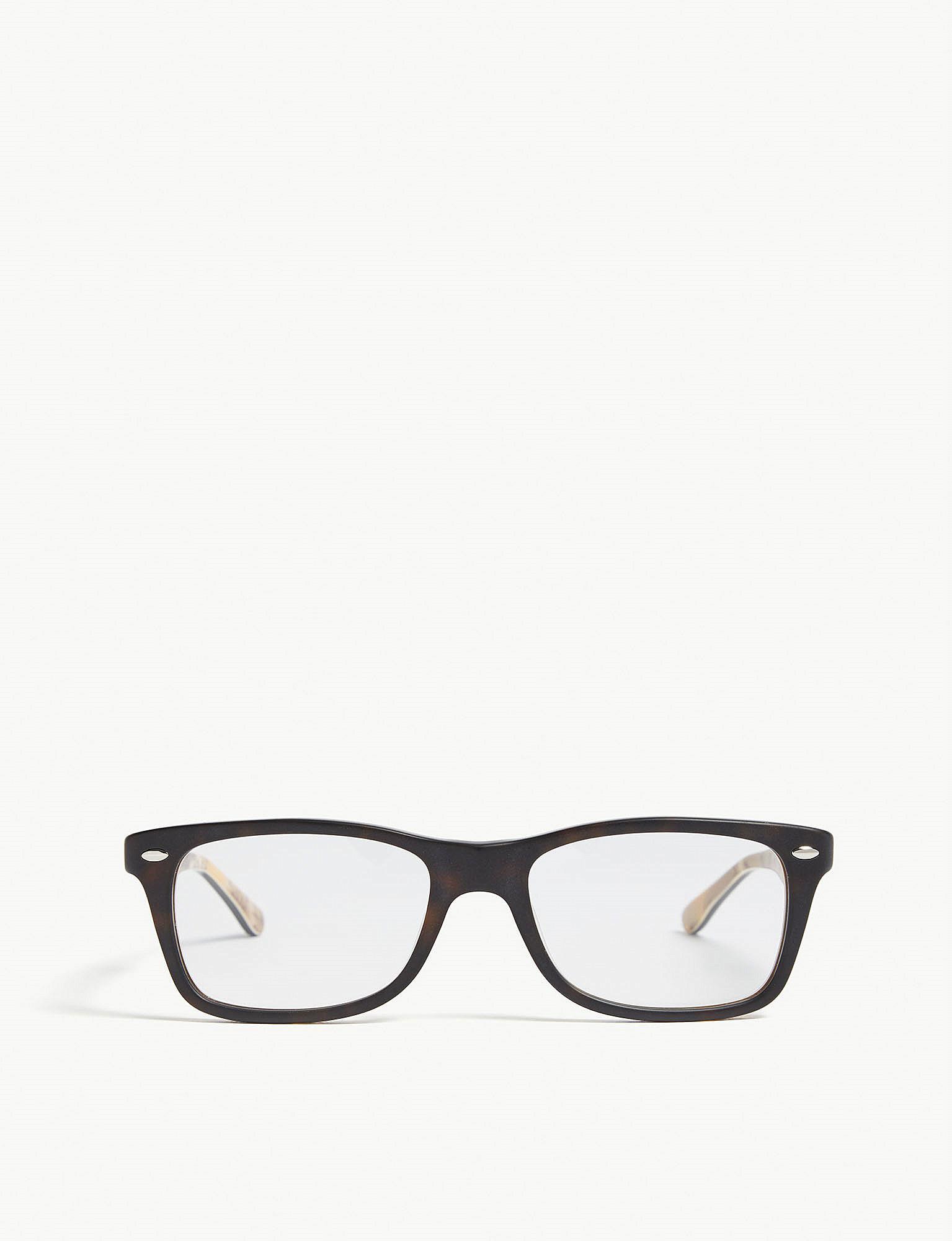 9beef7d0fdd Ray-Ban Rb5228 Square-frame Havana Glasses in Black for Men - Lyst