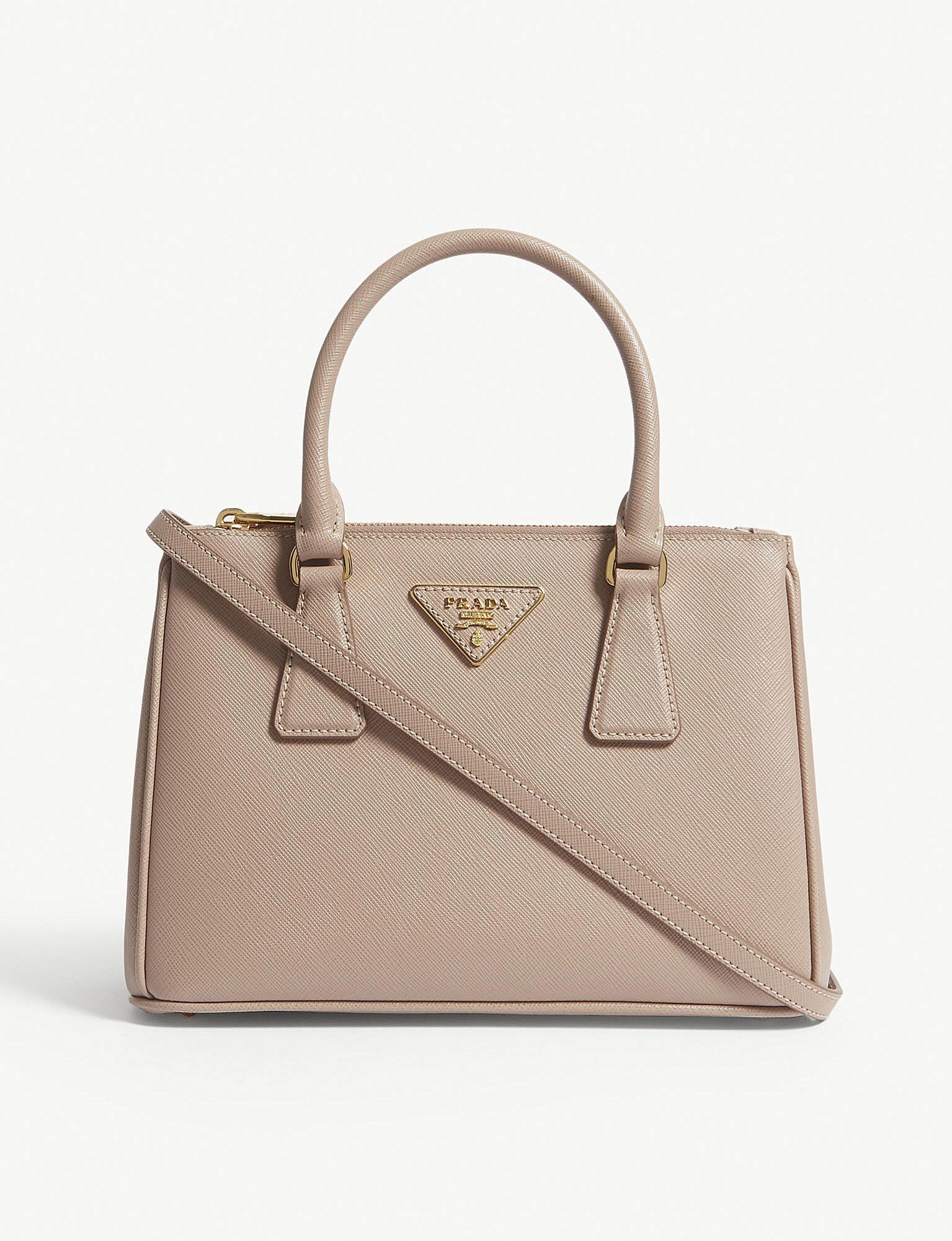 3c85974eb6e3 Lyst - Prada Cipria Pink Galleria Mini Leather Tote Bag in Pink