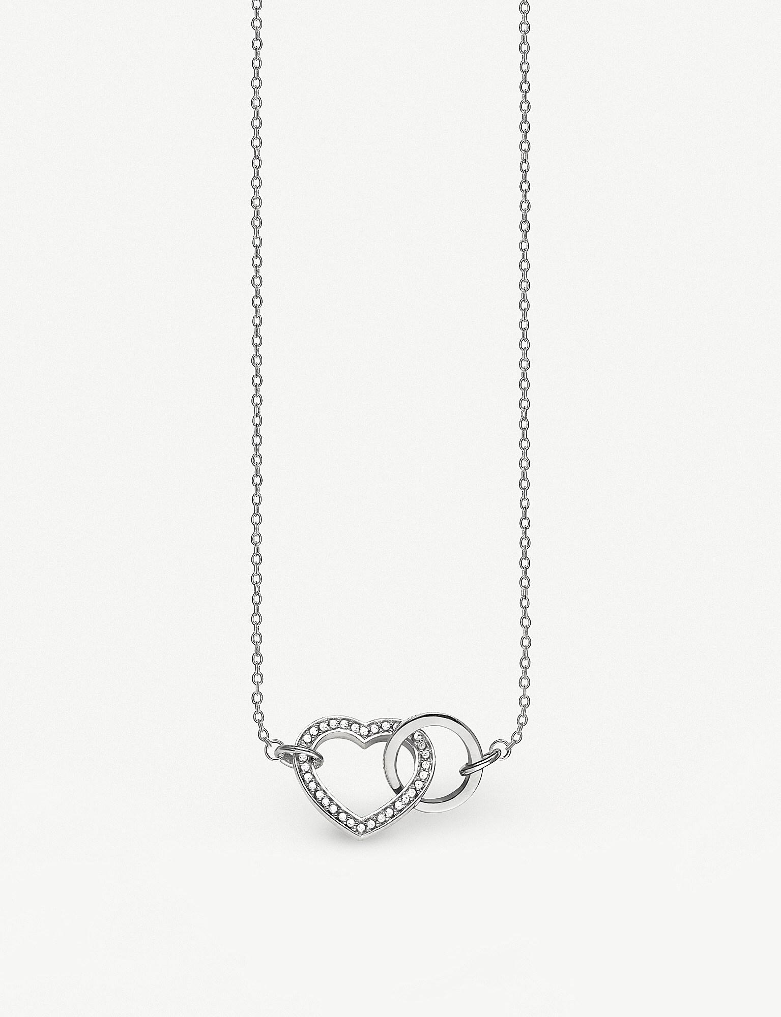 588cd8d6e61e Thomas Sabo. Women s Metallic Valentines Day Together Forever Heart  Sterling Silver Necklace