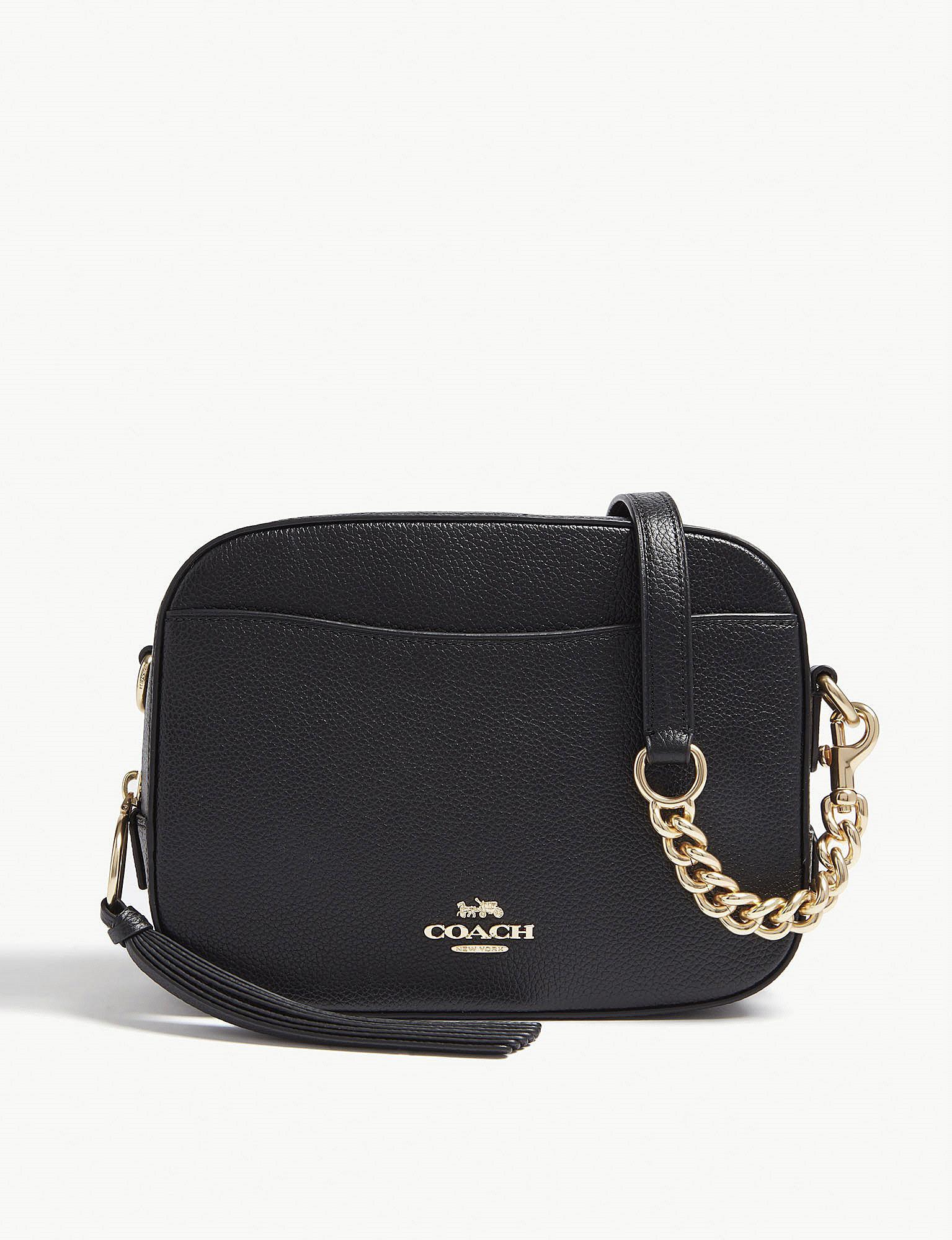 7a7b5c38c7 COACH - Ladies Black Leather Camera Bag - Lyst. View fullscreen