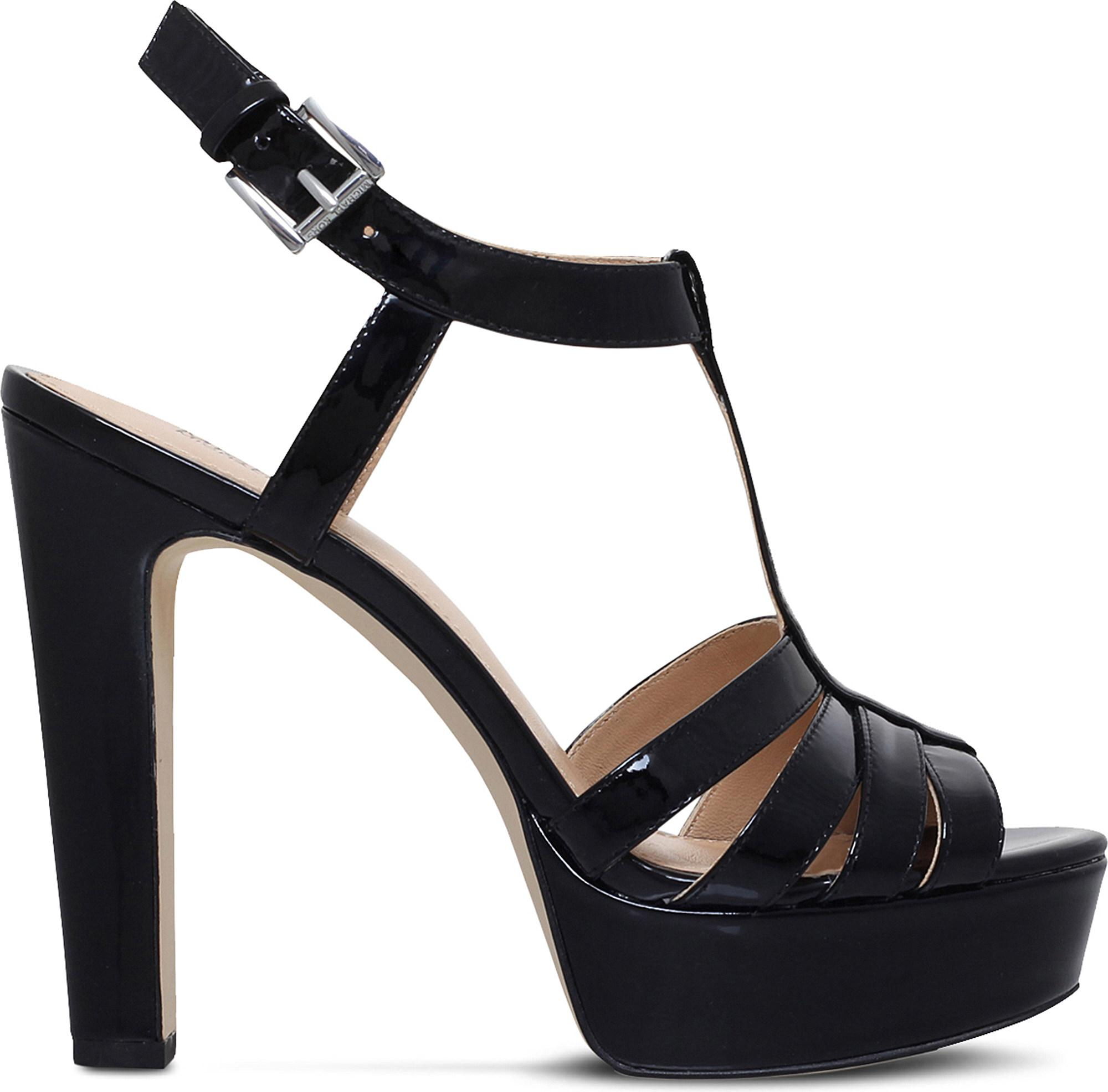 db8c62ae17f Lyst - MICHAEL Michael Kors Catalina Patent Leather Platform Sandals ...