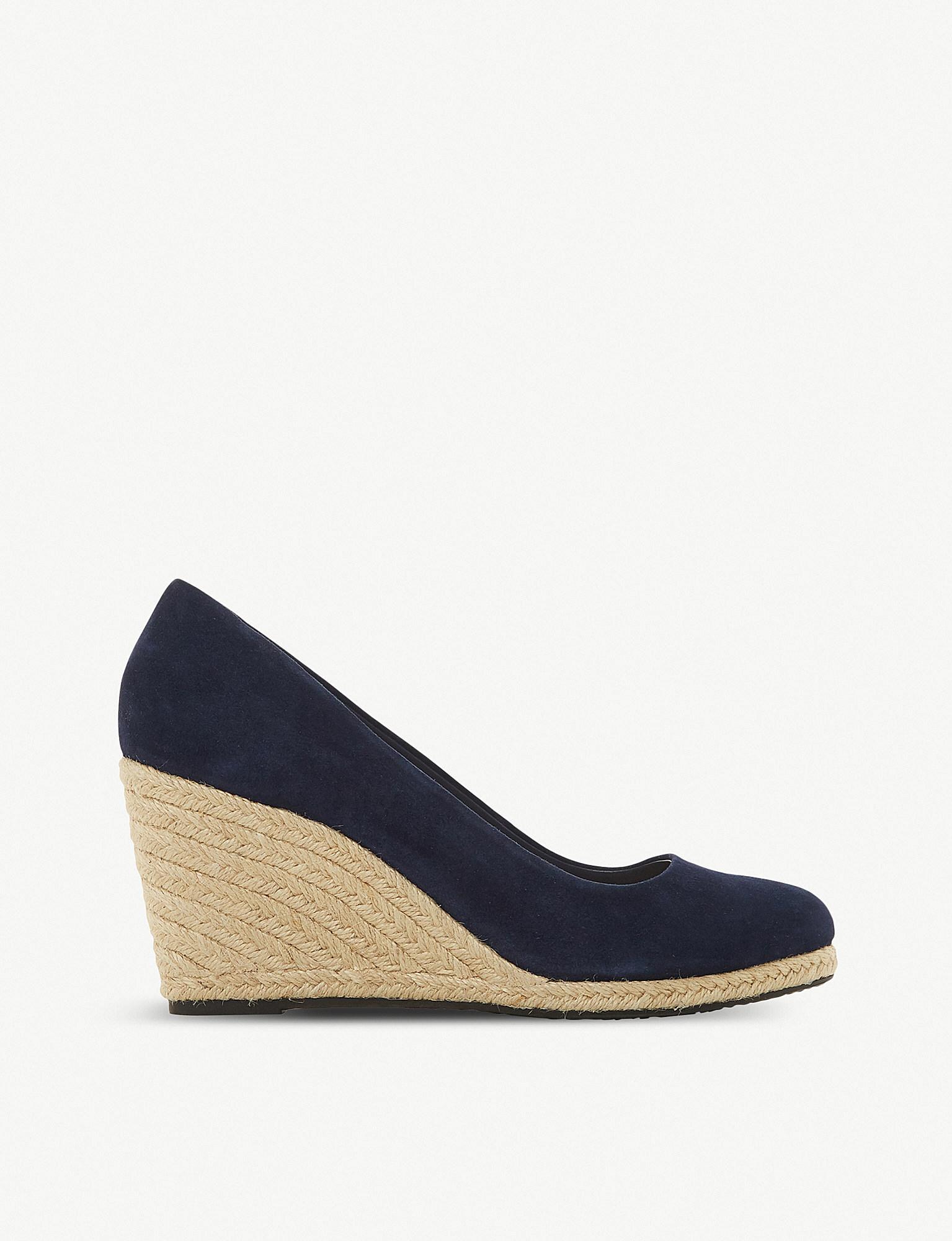 8125612e74cfa Dune Annabella Espadrille Wedge Sandals in Blue - Lyst