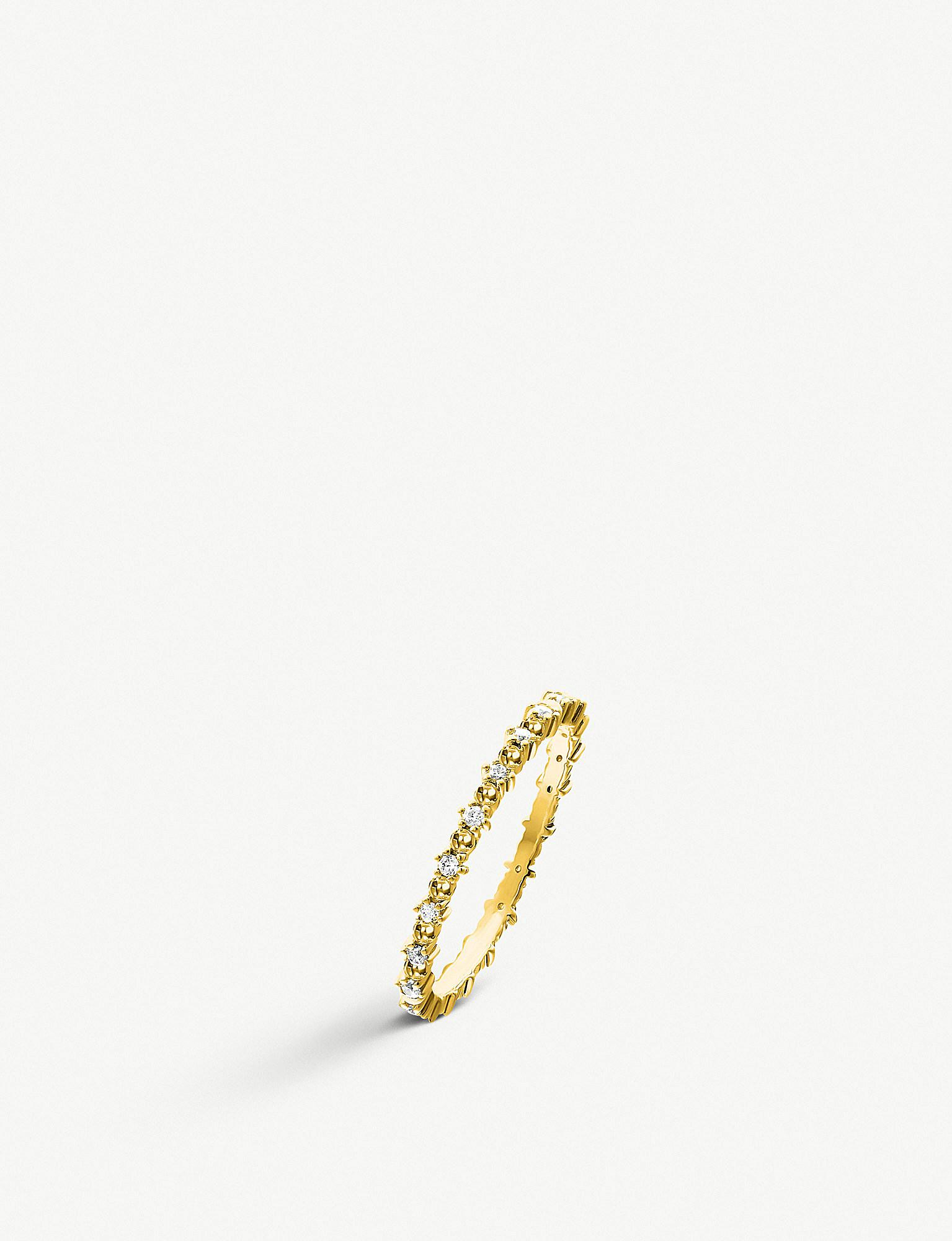80f242b40 Thomas Sabo. Women's Metallic 18ct Yellow Gold Plated And Cubic Zirconia  Eternity Ring
