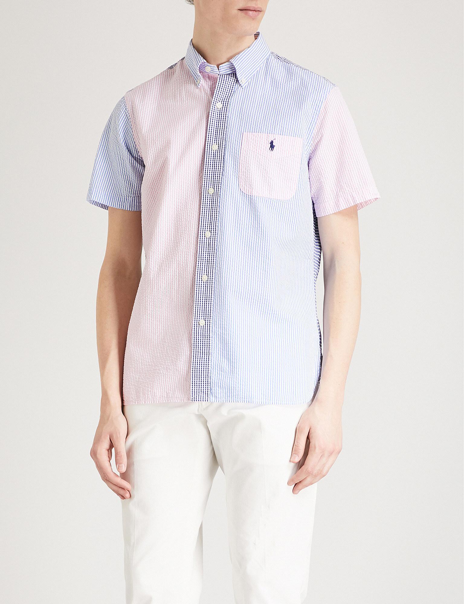 515170ce5 Polo Ralph Lauren Fun Patterned Custom-fit Cotton Seersucker Shirt ...