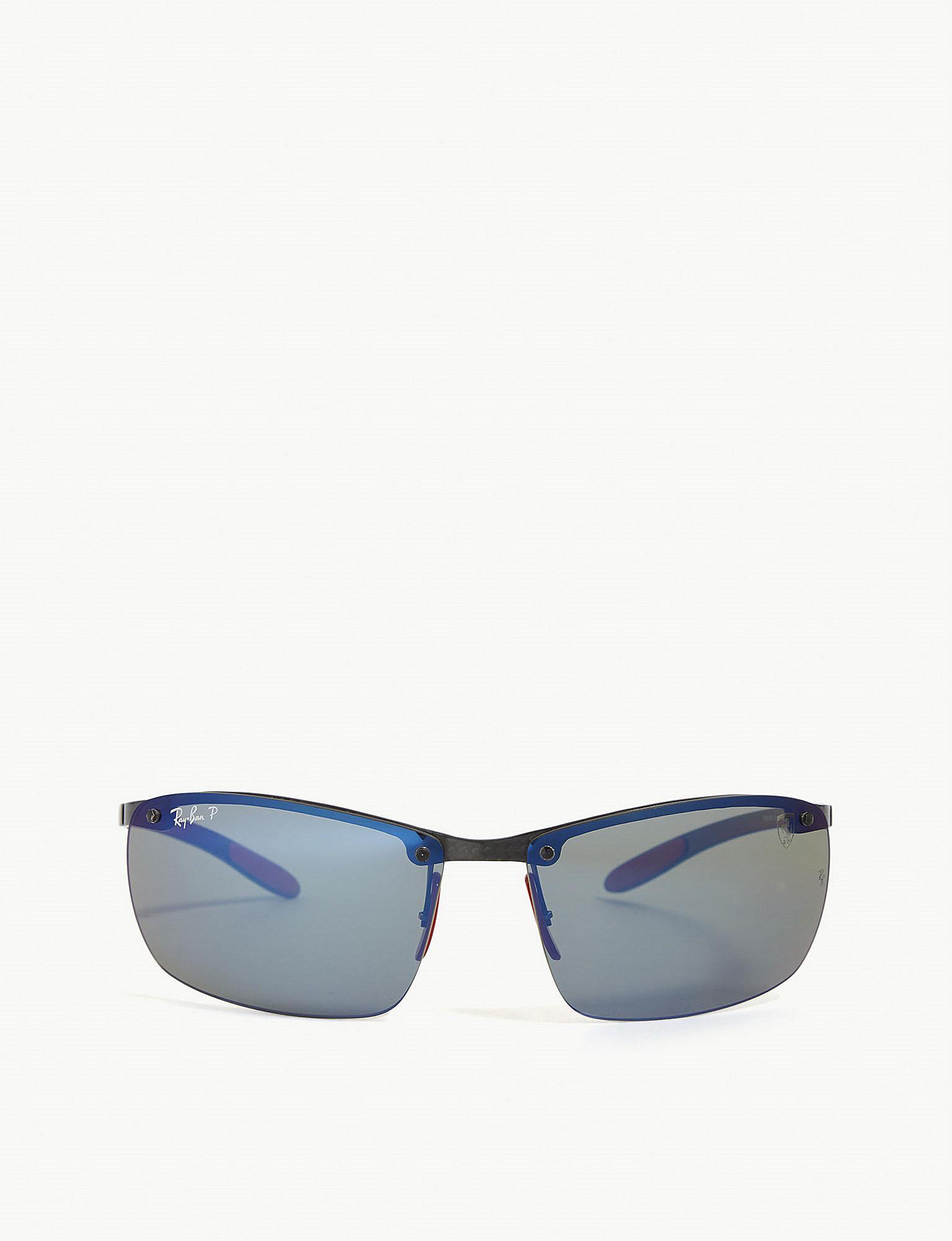 5d66974280e91 Lyst - Ray-Ban Rb8305 Ferrari Rectangular Sunglasses in Black for Men