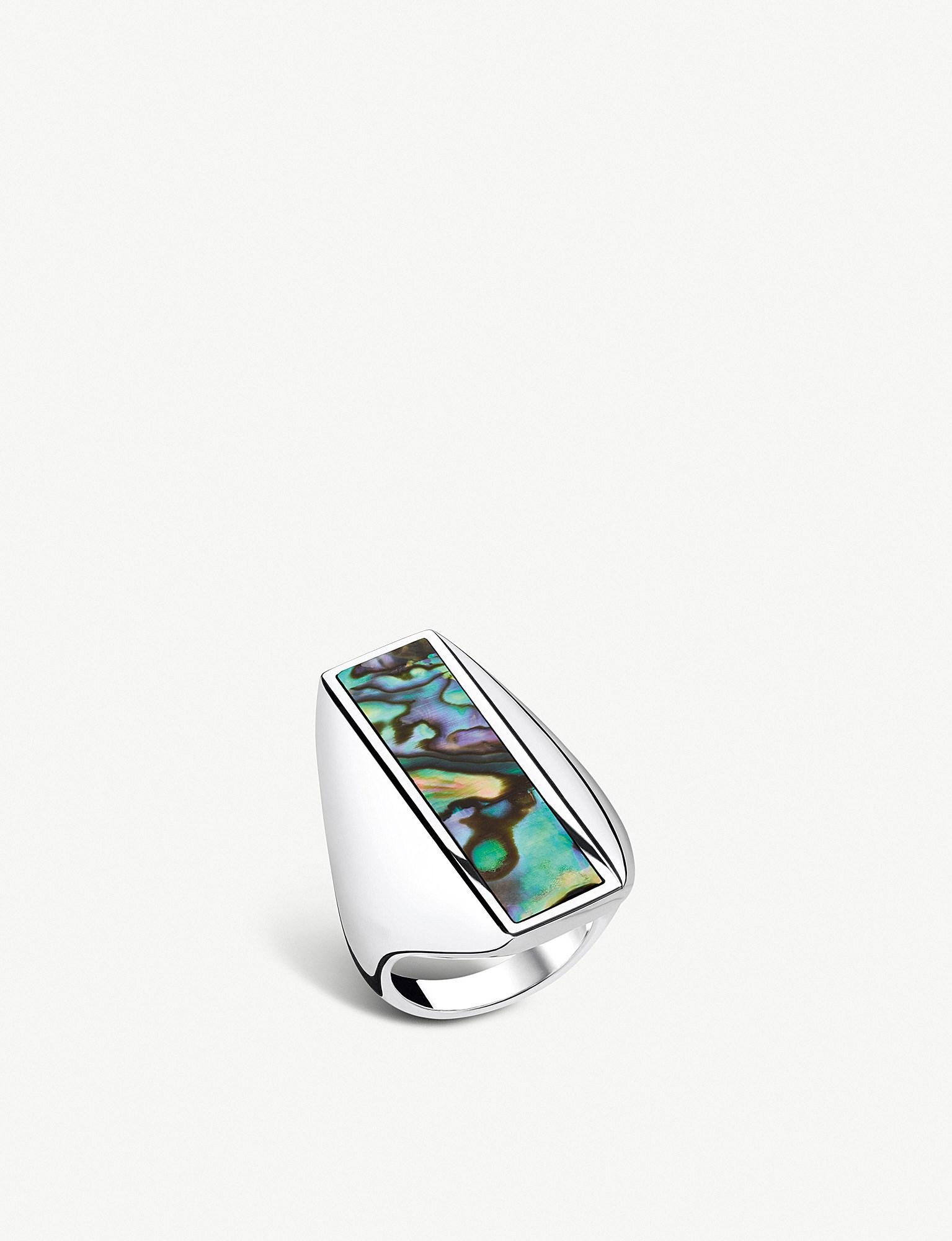 097b788d4d2f Thomas Sabo. Women s Metallic Heritage Sterling Silver And Abalone Mother -of-pearl Ring