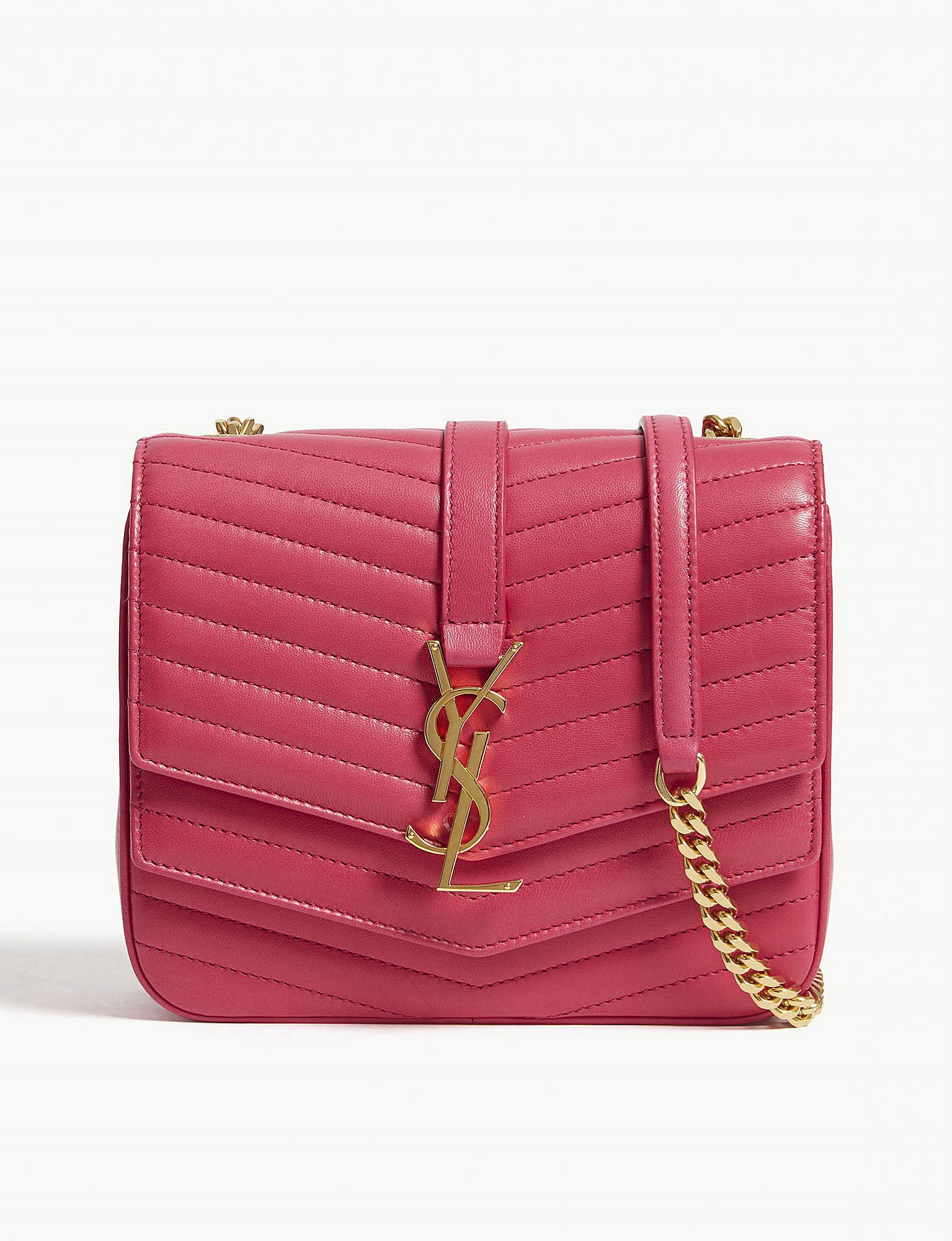 76ae6fef75 Saint Laurent. Women s Pink Sulpice Small Quilted Leather Cross-body Bag