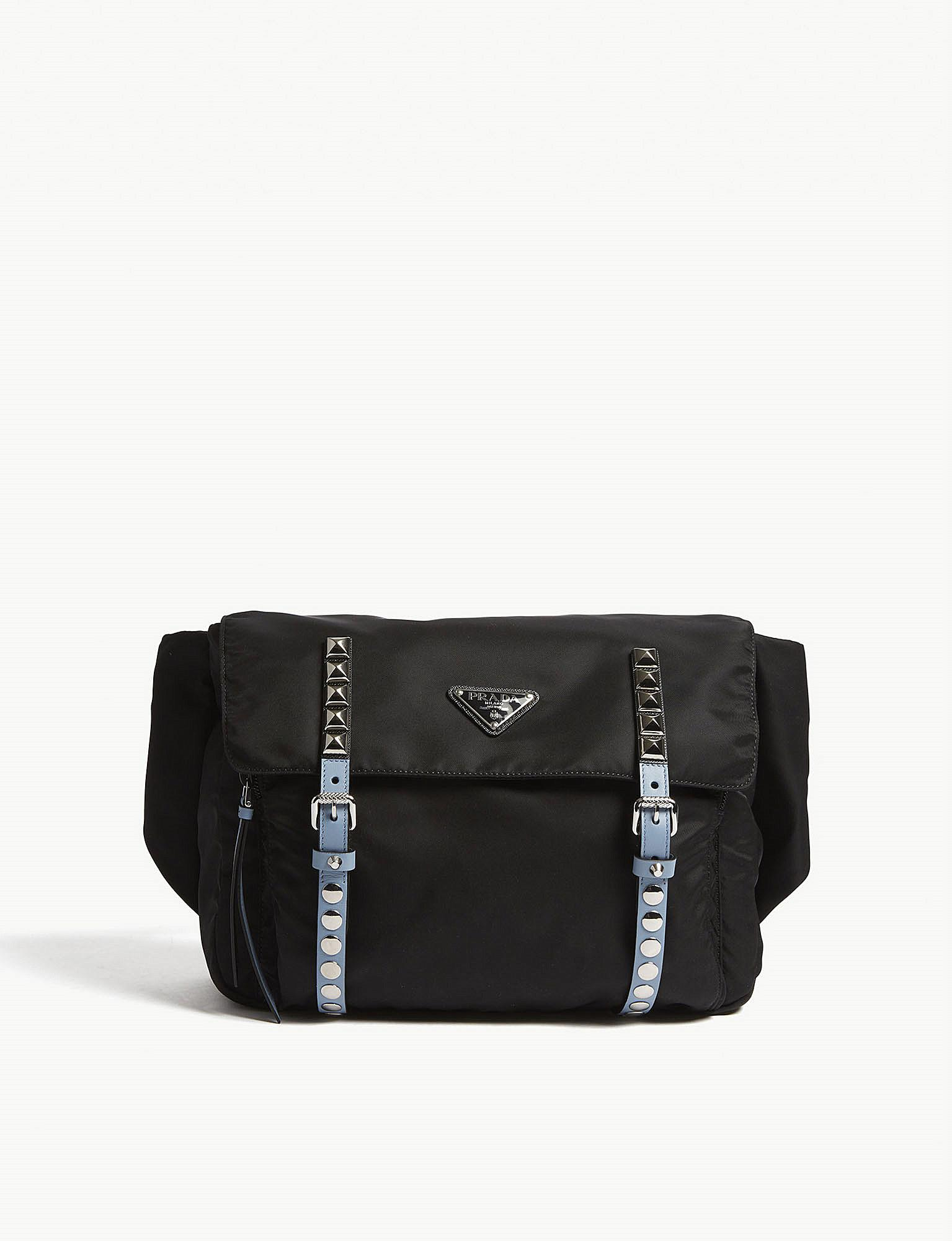 9a8a26482c1f Prada - Ladies Black Modern Studded Nylon Belt Bag - Lyst. View fullscreen