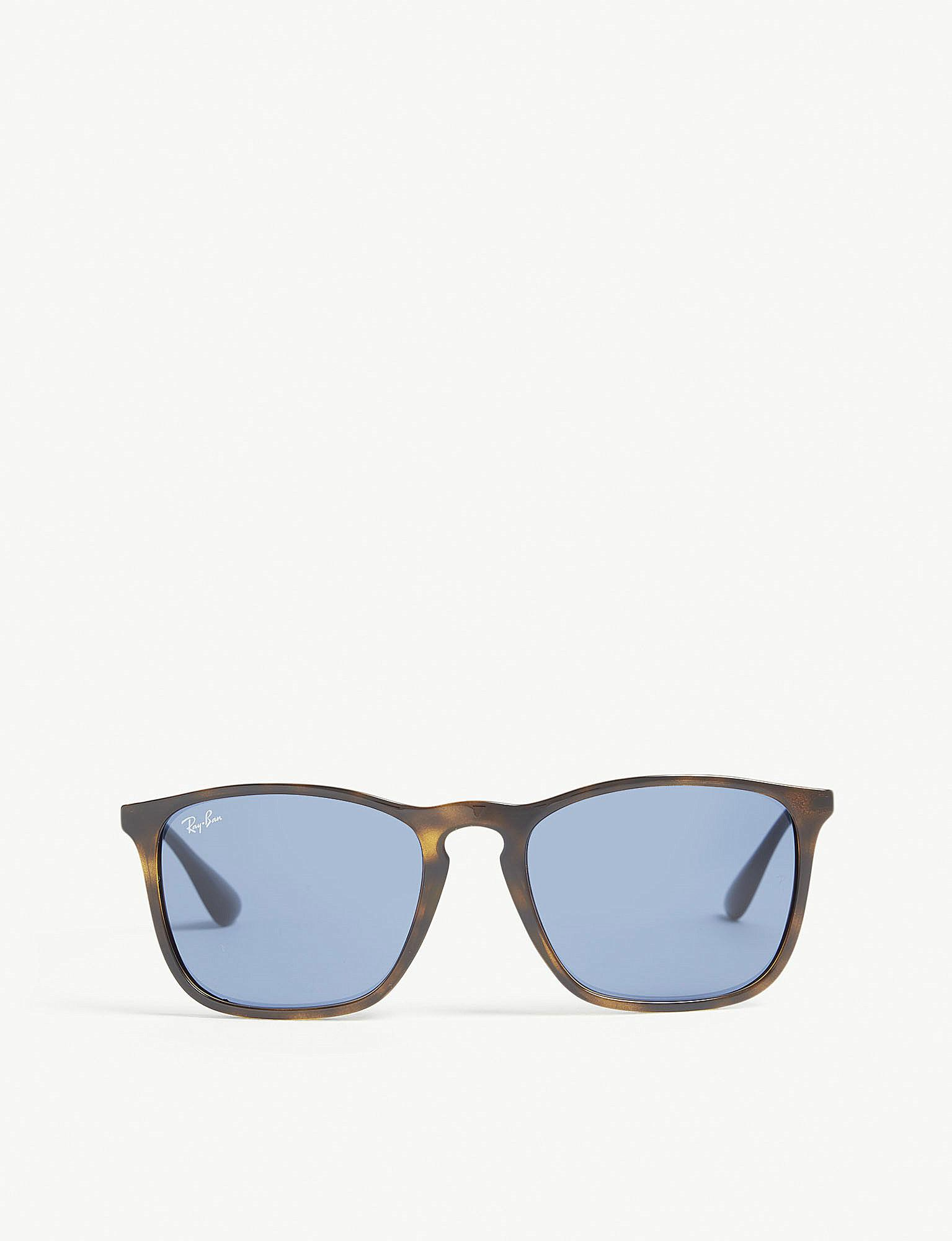 5ad62ccca4 Lyst - Ray-Ban Rb4187 Chris Square-frame Sunglasses in Blue