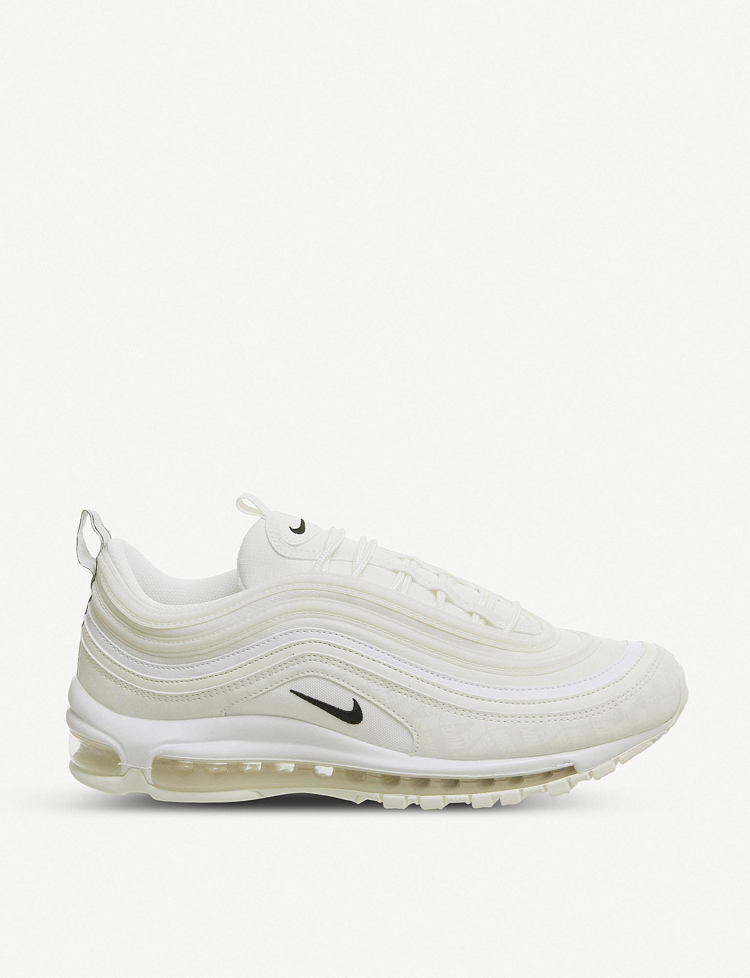 Nike Air Max 97 Leather And Mesh Trainers in White for Men - Lyst 764b30123