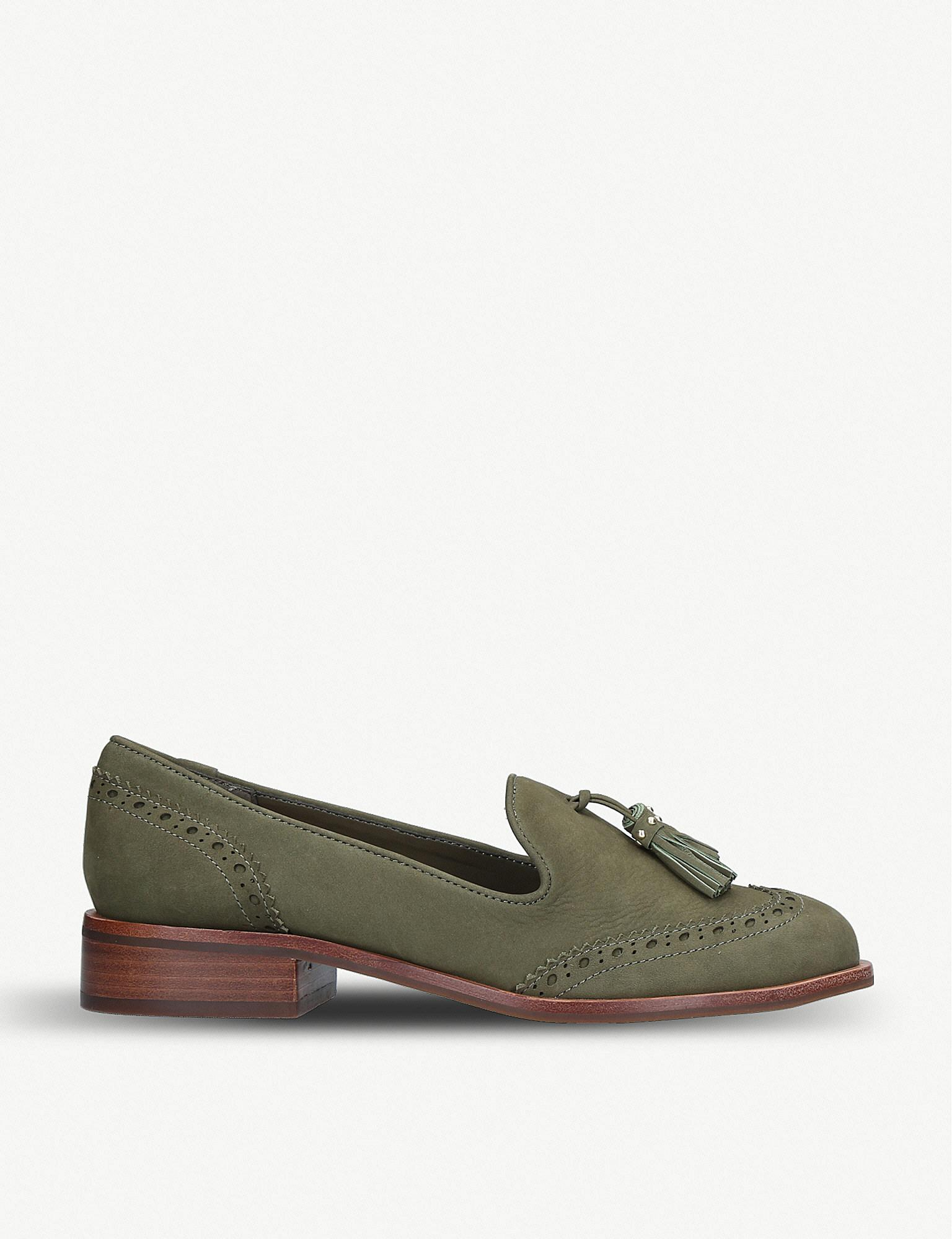 e4c08382b83 Lyst - ALDO Aferinna Leather Loafers in Green