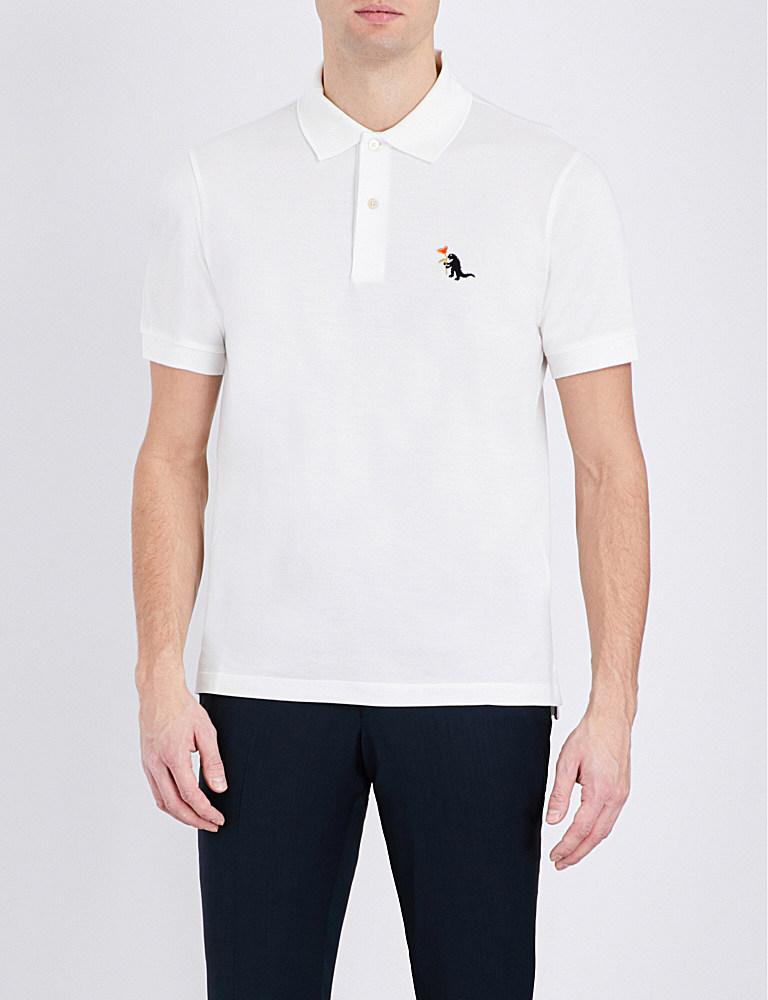 f4e57943a Paul Smith Dinosaur Cotton Polo Shirt in White for Men - Lyst