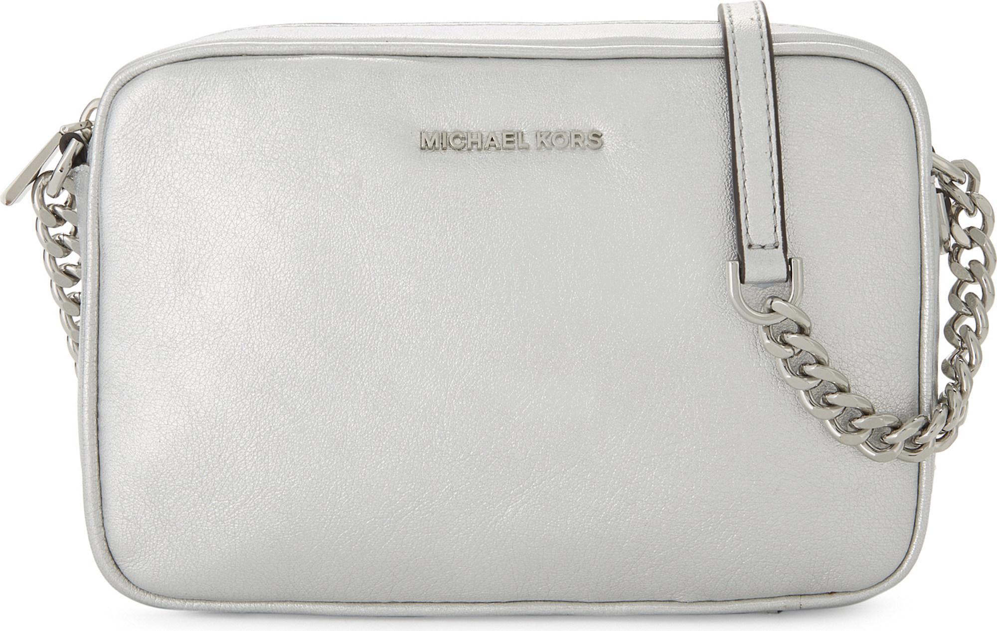 d978f5acb7d63c MICHAEL Michael Kors Ginny Metallic Leather Cross-body Camera Bag in ...