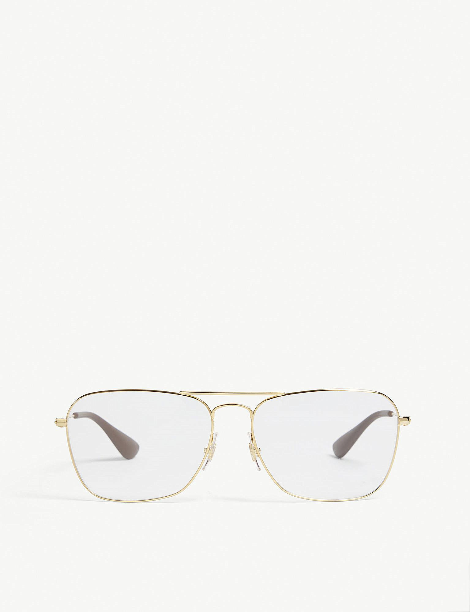 ray ban rb3610v square frame glasses in metallic for men lyst Ray-Ban Aviator RB3026 ray ban