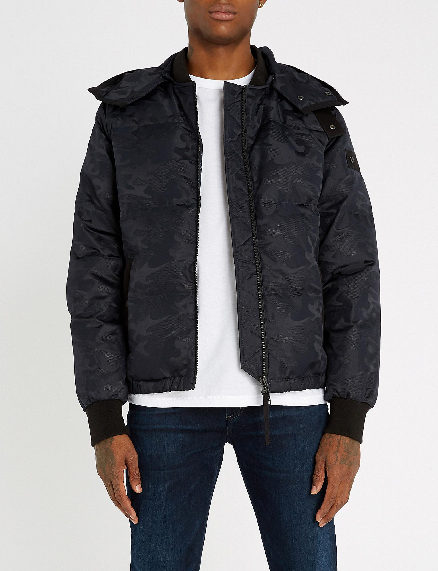 b5c7fb6fe578c True Religion Camouflage Shell-down Jacket in Black for Men - Lyst