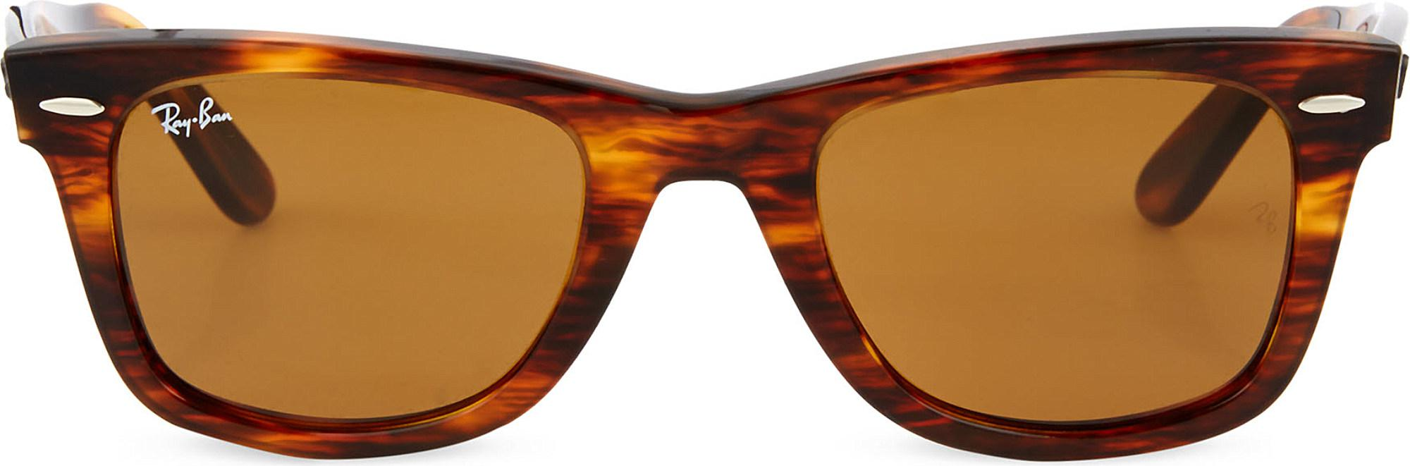 Lyst Ray Ban Matte Light Tortoiseshell Wayfarer Sunglasses Rb2140 Byo Shell Clutch In Burgundy View Fullscreen