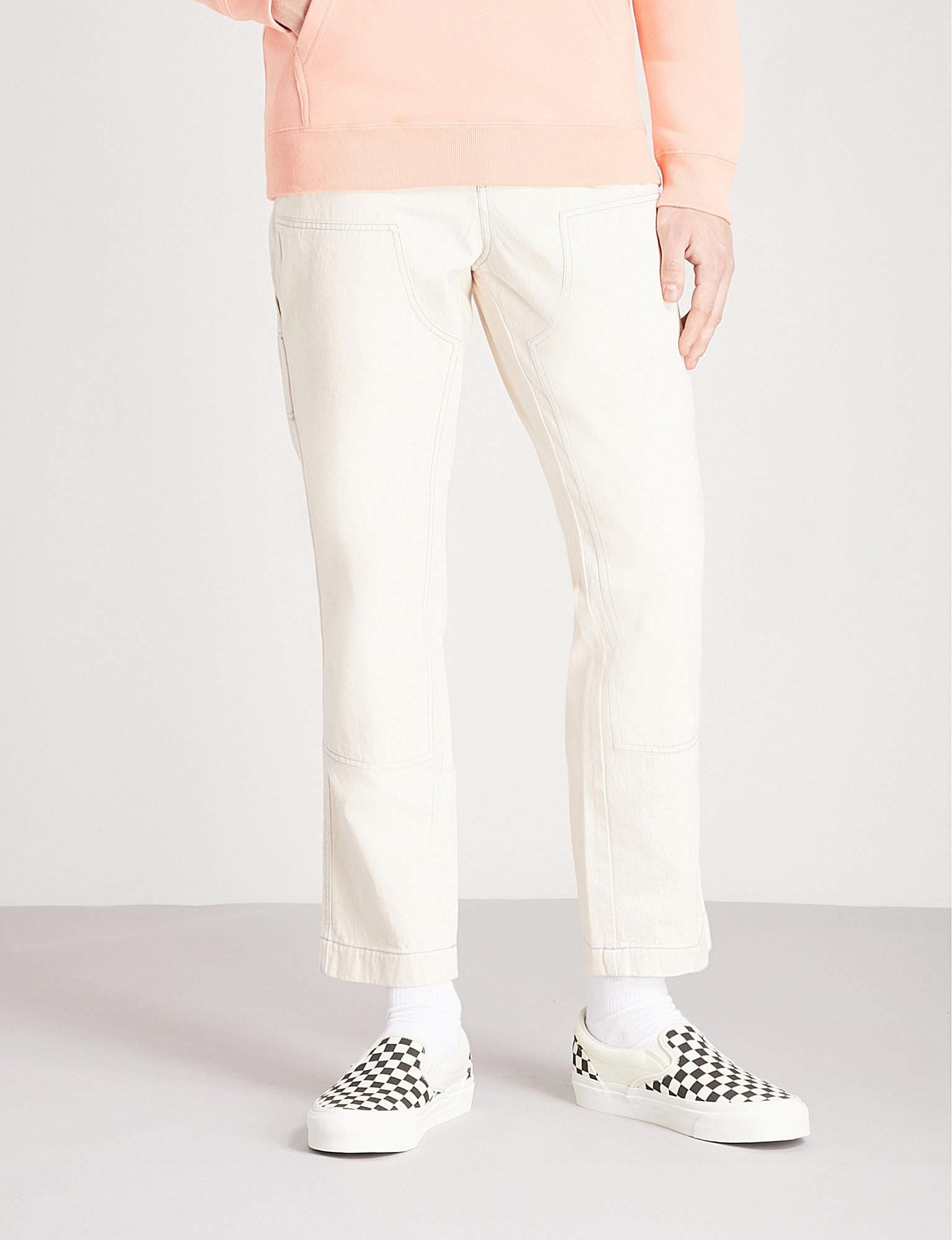 In Lyst Twill Cotton Fit Stussy Tapered Regular Trousers Panelled 8w8pqHZa