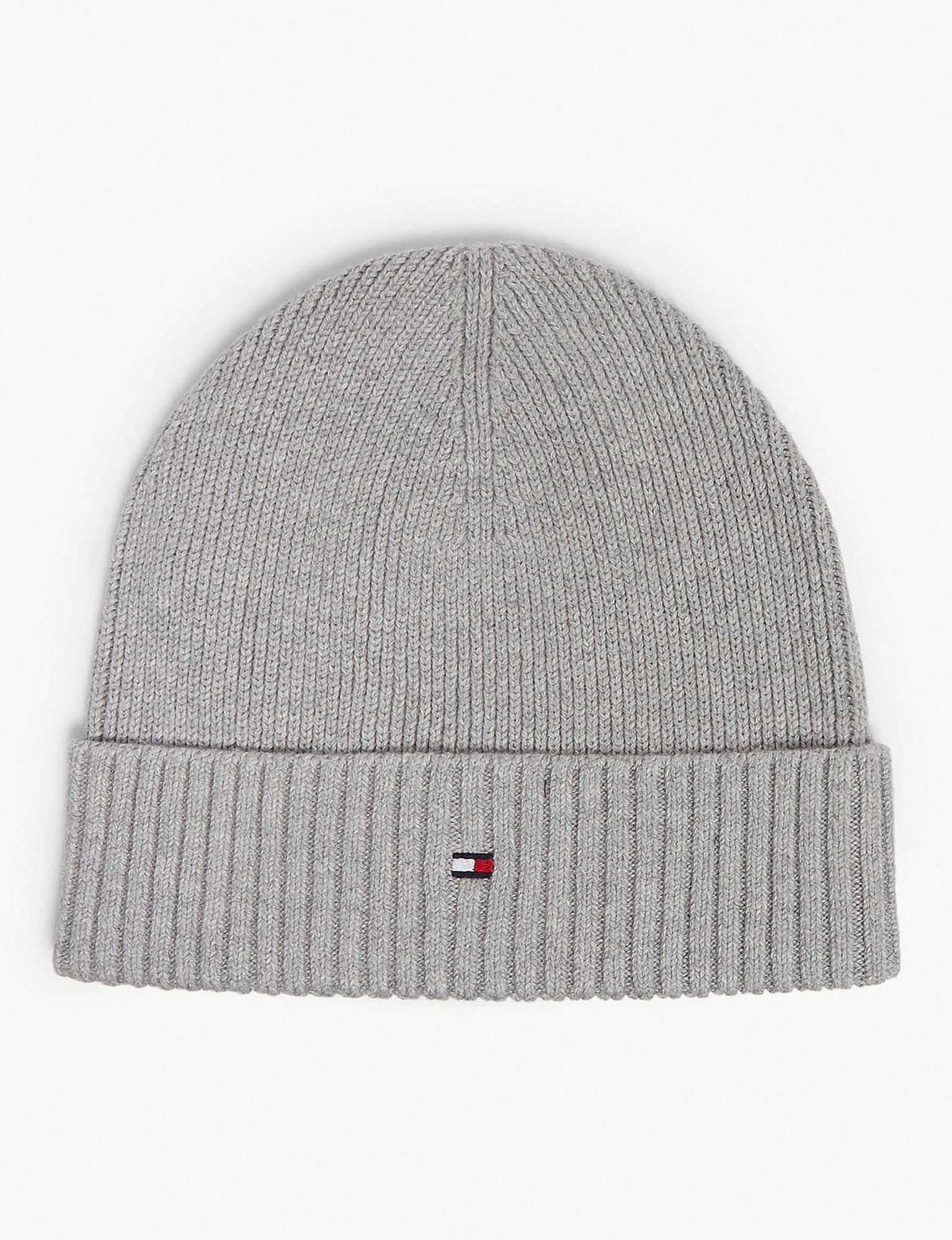 609ca843 Tommy Hilfiger Pima Cotton And Cashmere Beanie in Gray for Men - Lyst