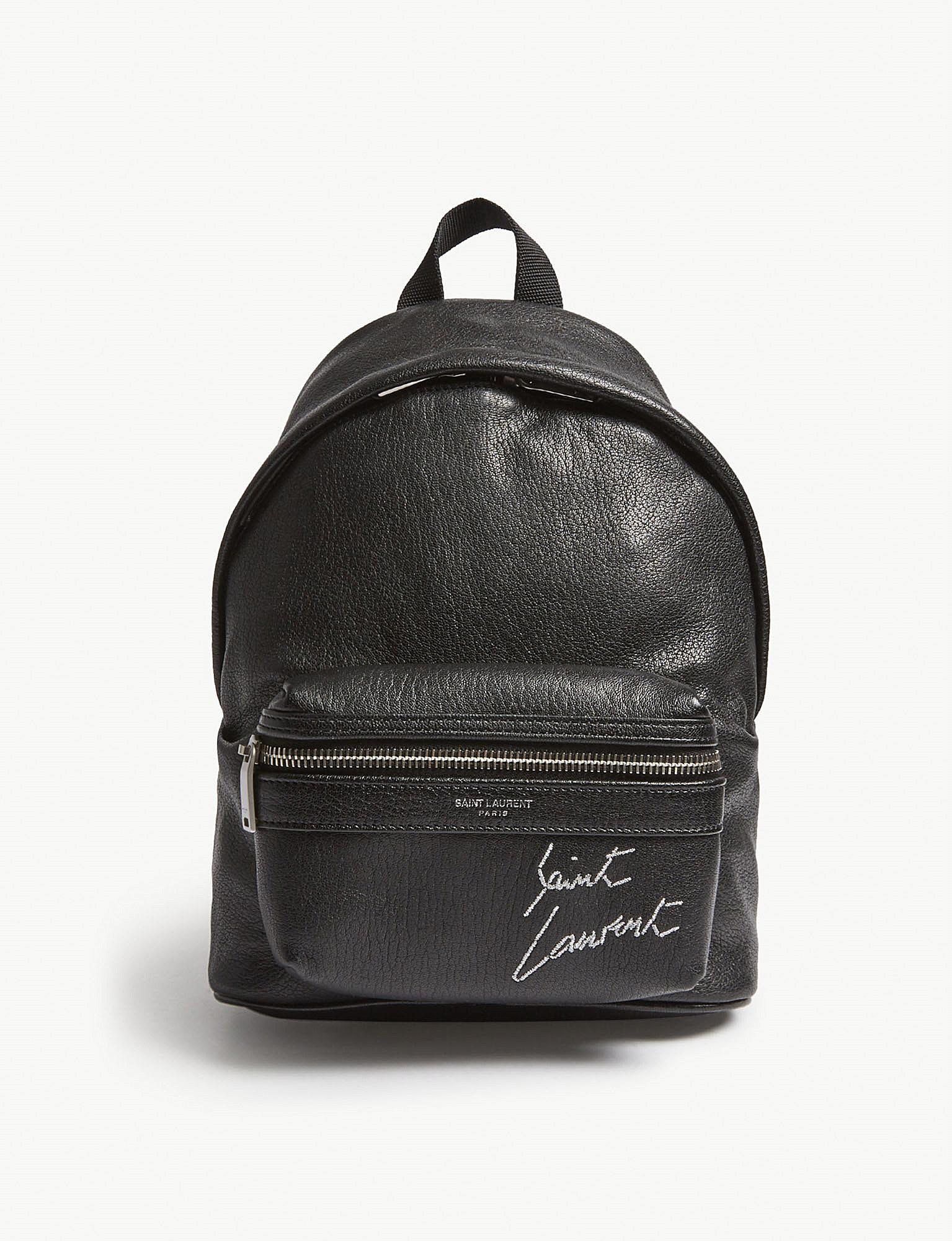 ca4d6d667 Saint Laurent Toy City Leather Backpack in Black - Lyst