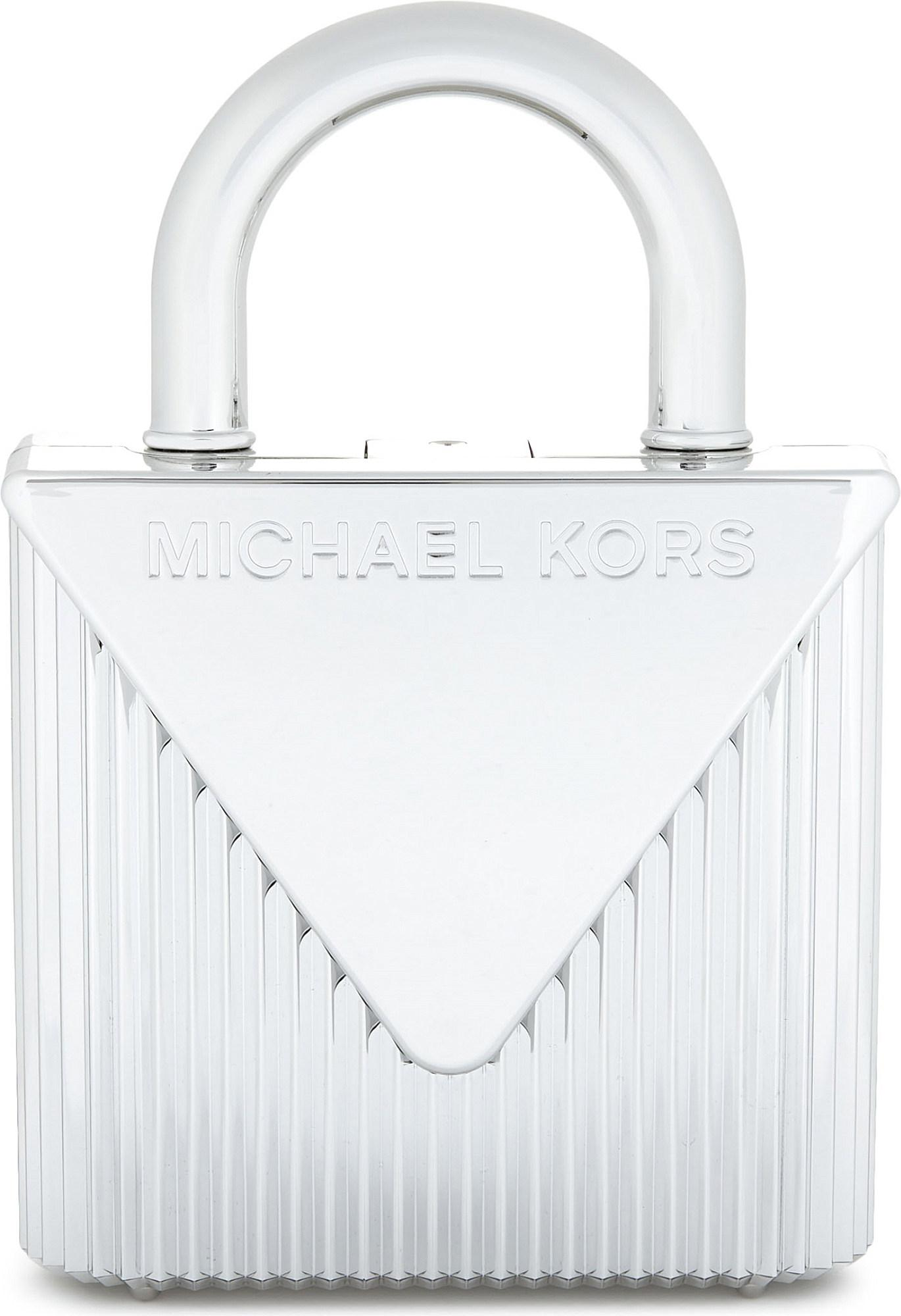 df6f6a1e2165 Lyst - MICHAEL Michael Kors Mercer Lock Clutch Bag in Metallic