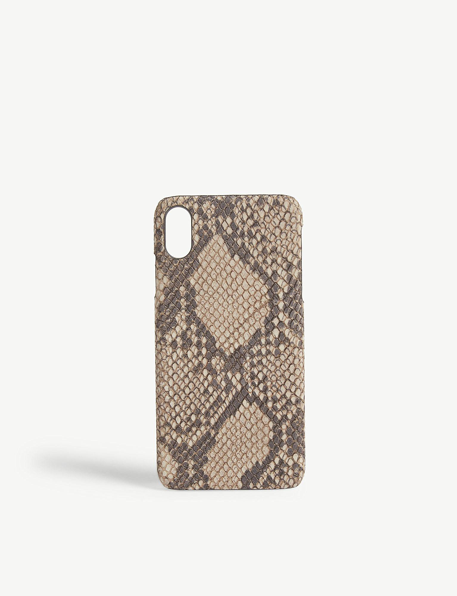 buy online 1c129 5abed The Case Factory Cashmere Python-print Leather Iphone Xs Max Case - Lyst