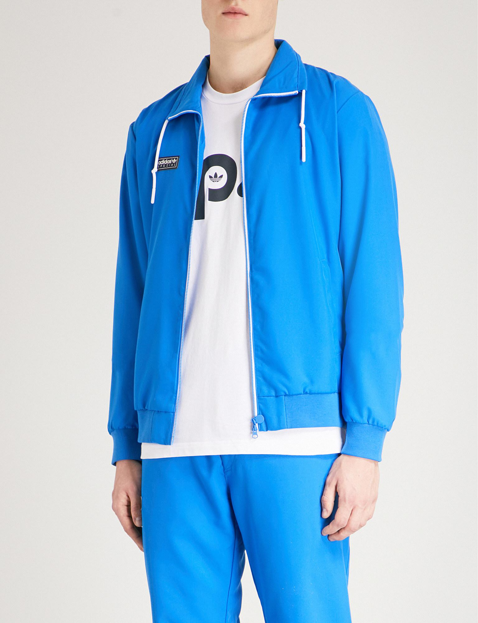 adidas Cardle Jersey Track Jacket in Blue for Men - Lyst bbdc9e0d8