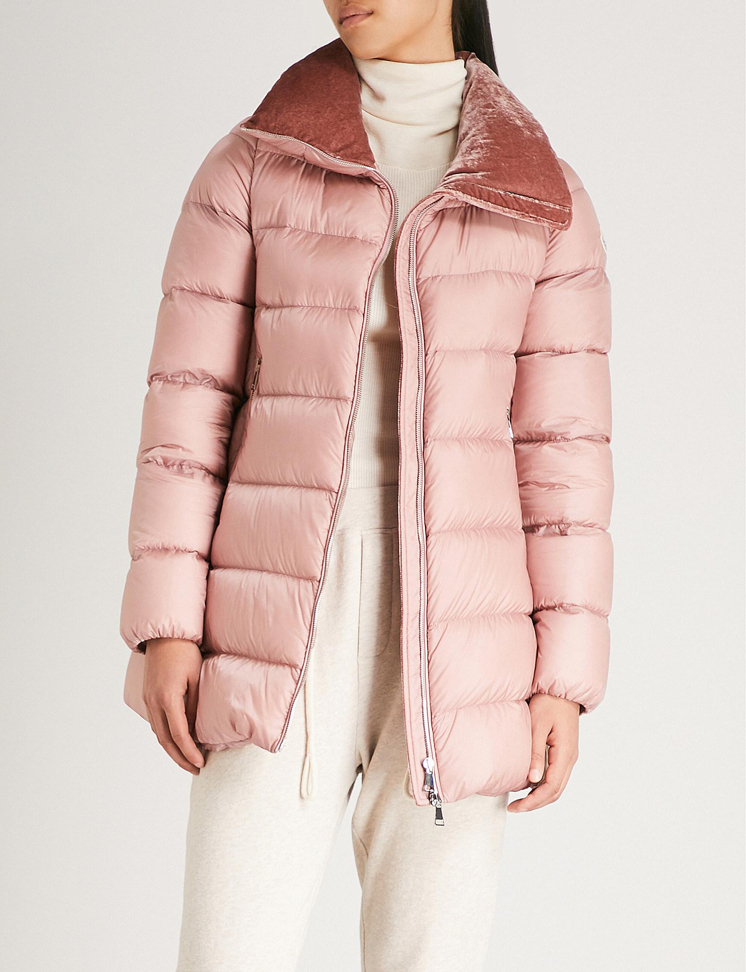274ec8d2937e reduced moncler coat pink roses 6ef64 163aa