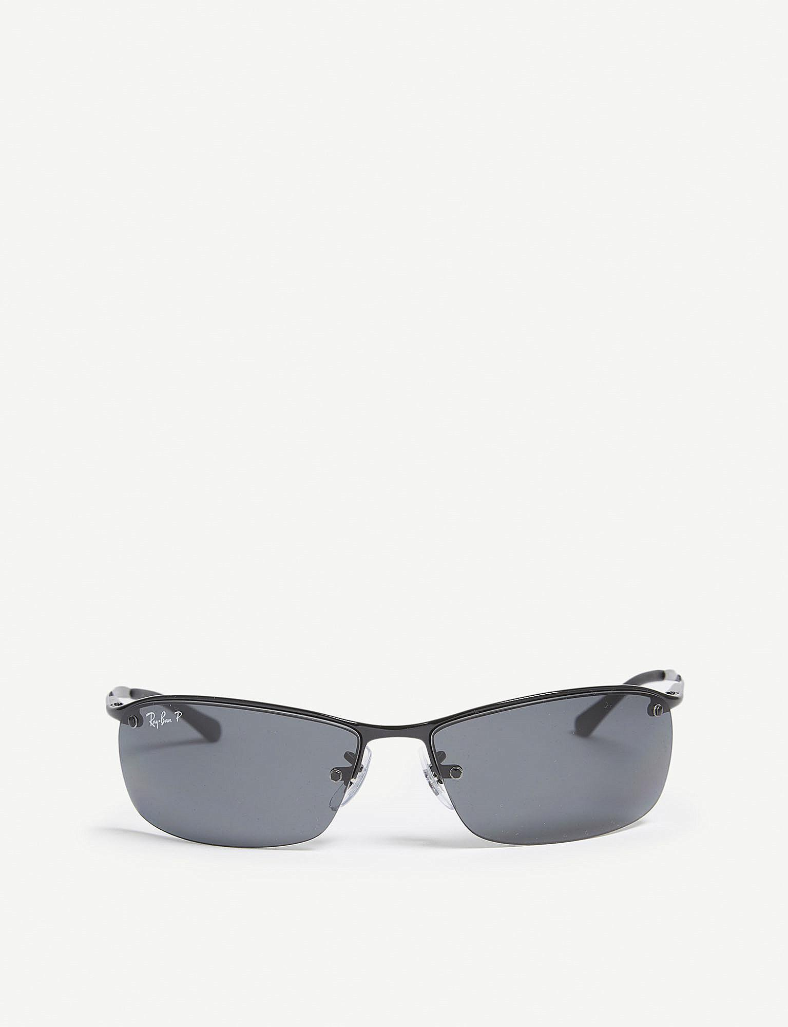 61a669722a Lyst - Ray-Ban Rb3183 Rectangle-frame Sunglasses in Black