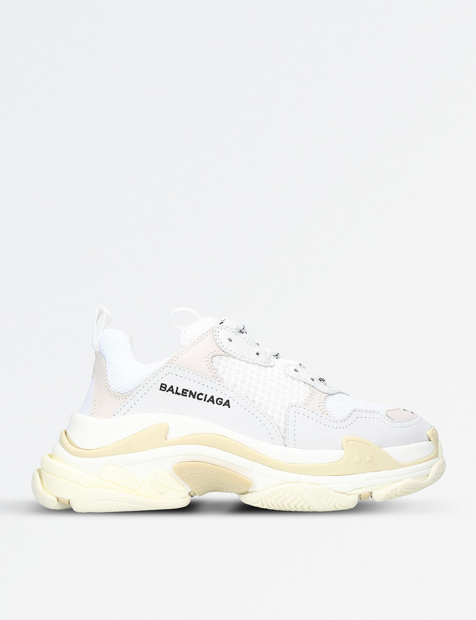 6267f94a9771 Lyst - Balenciaga Triple S Trainer in White