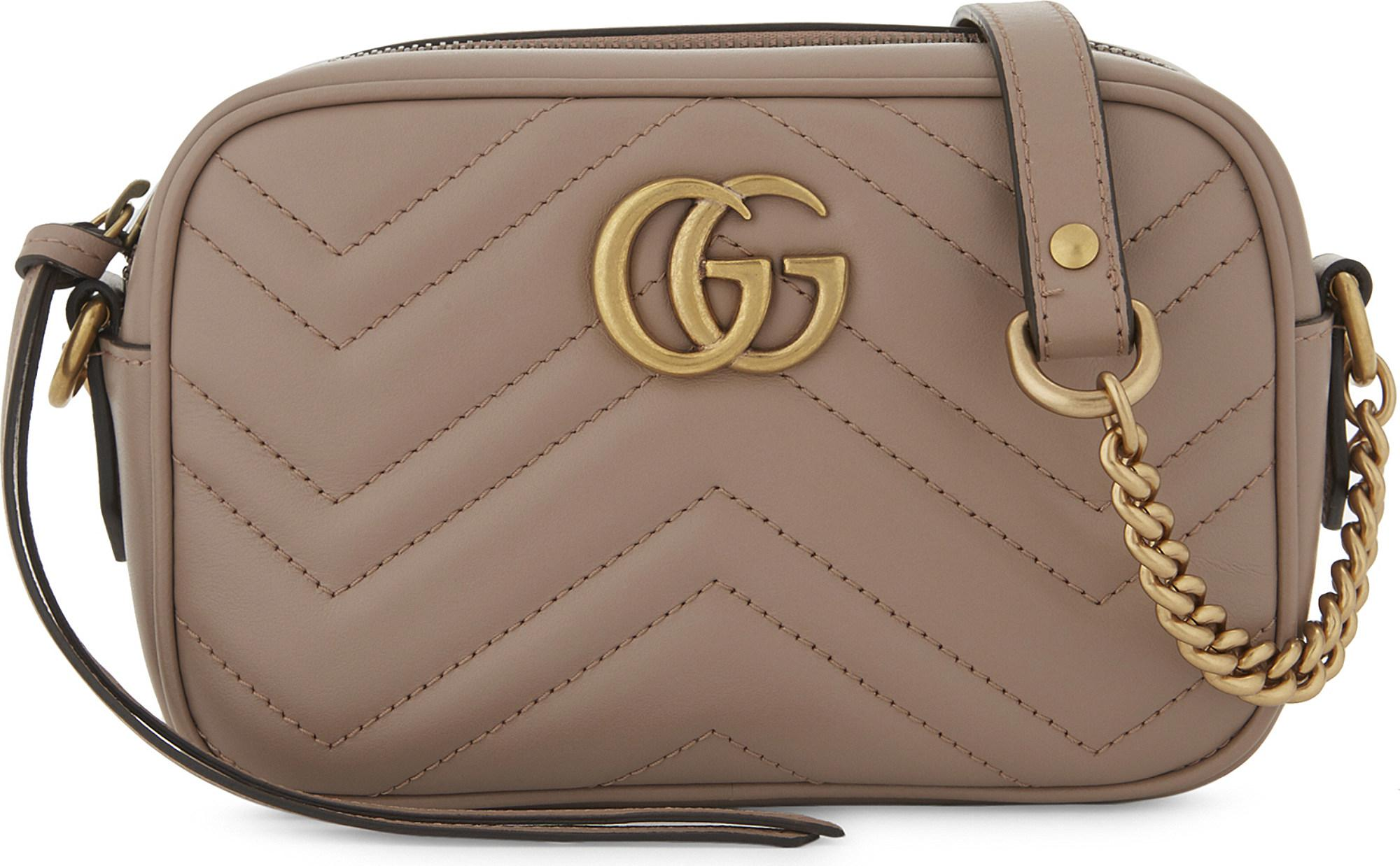 22523cd0ab7856 Gucci. Women's Marmont Leather Cross-body Bag