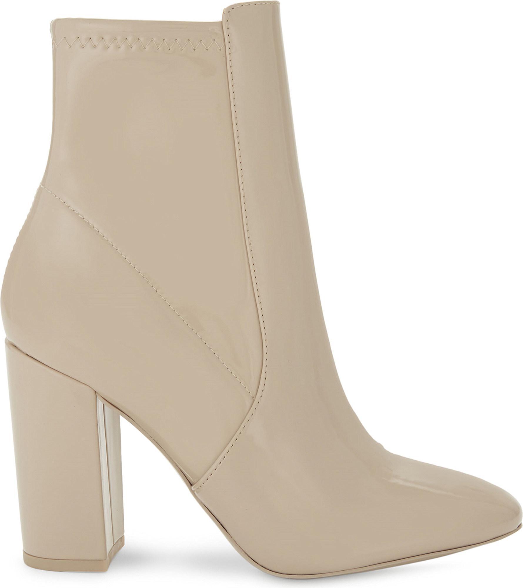 3187e985d05 Lyst - ALDO Aurella Patent Faux-leather Ankle Boots in Natural