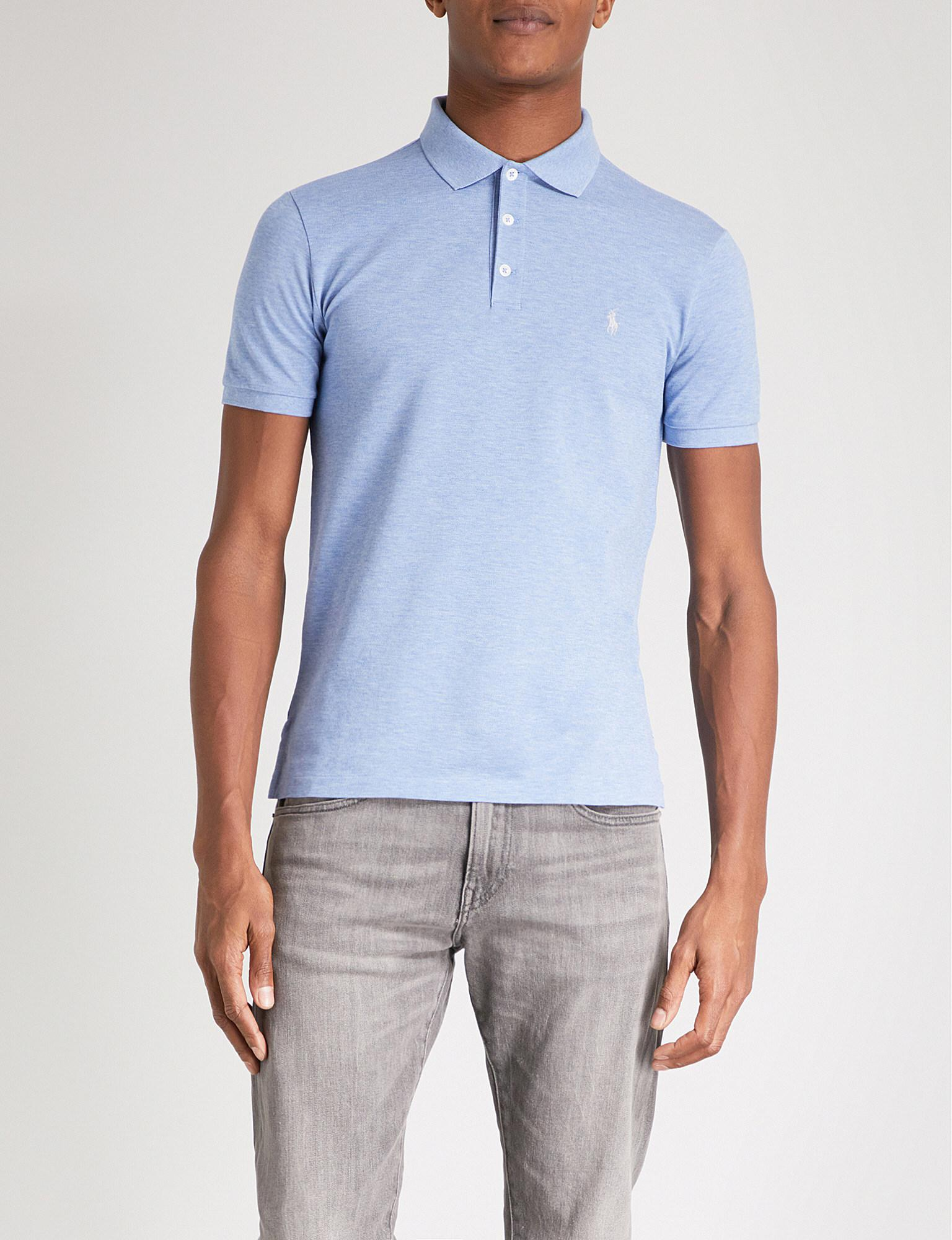d6d6fa7a Lyst - Polo Ralph Lauren Slim-fit Soft-touch Cotton Polo Shirt in ...