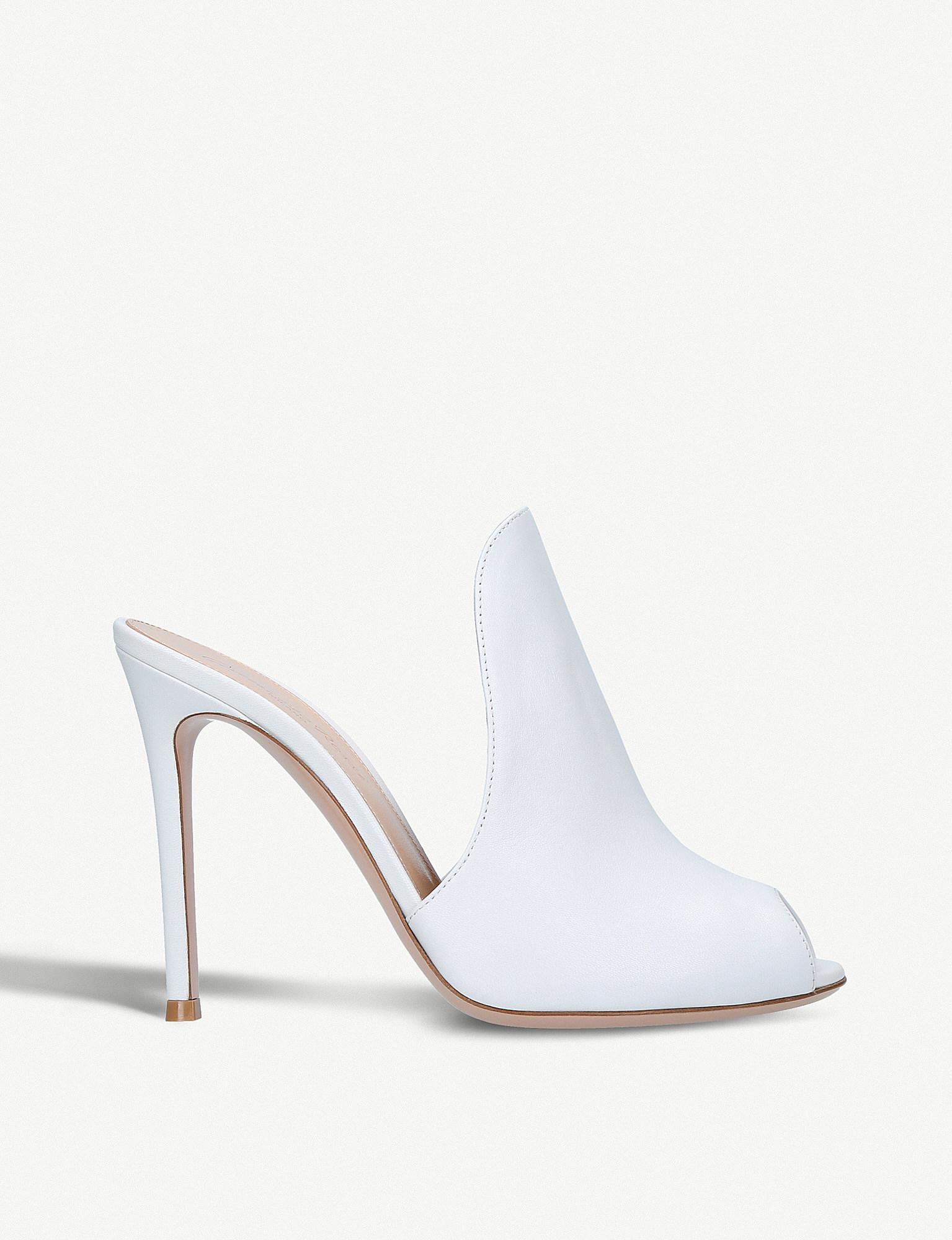 Aramis 105 White Patent Leather Mules Gianvito Rossi Cheap Sale Good Selling NepRJPZ