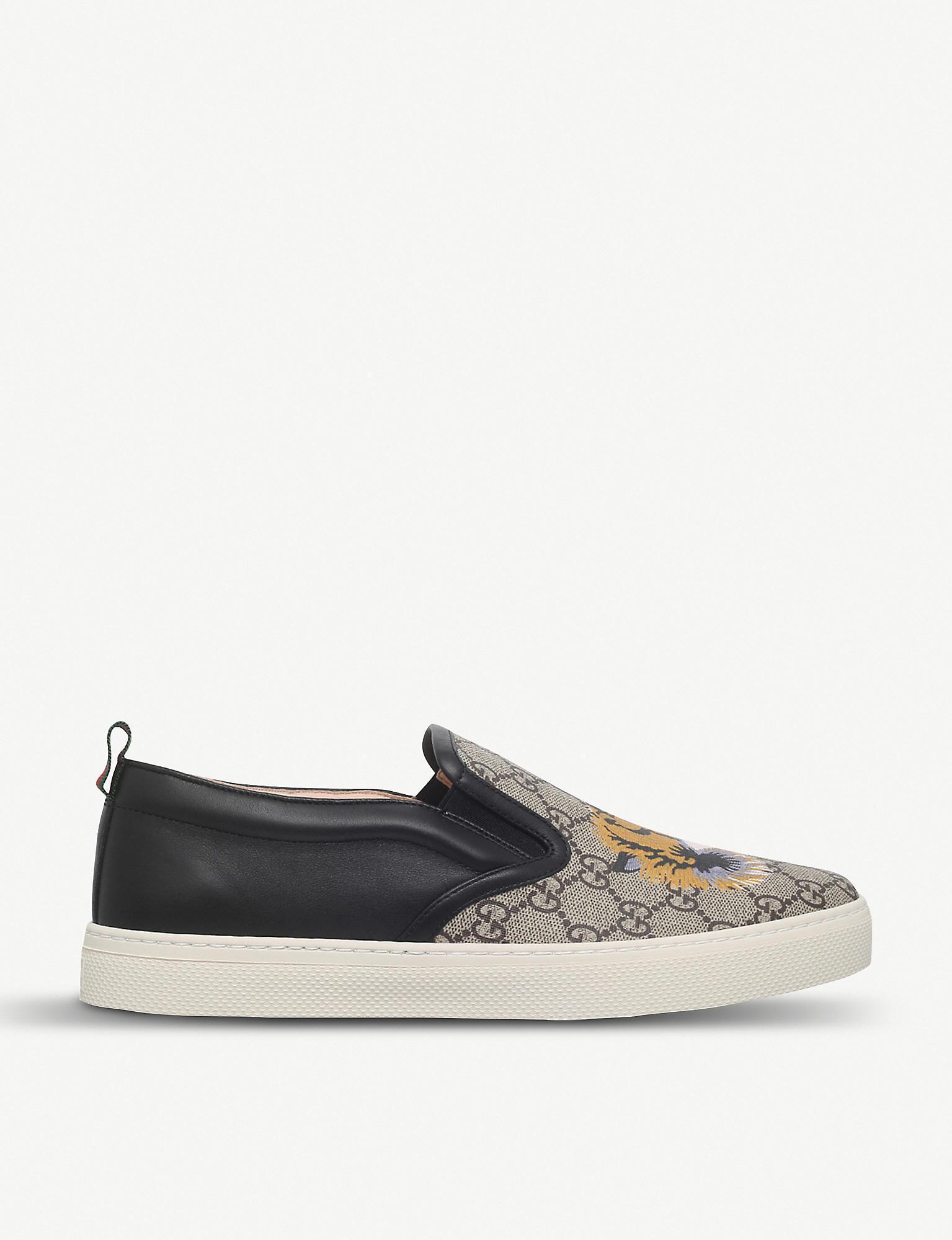 8cf570a9f Gucci - Natural Dublin Tiger Skater Shoes for Men - Lyst. View fullscreen