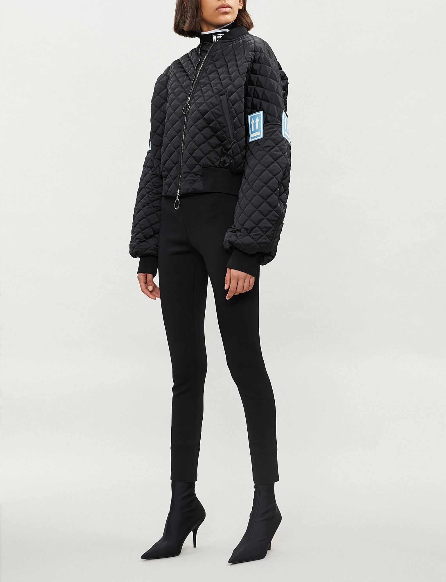 a7dfa0c15 Off-White c/o Virgil Abloh Contrast-patch Quilted Bomber Jacket in ...