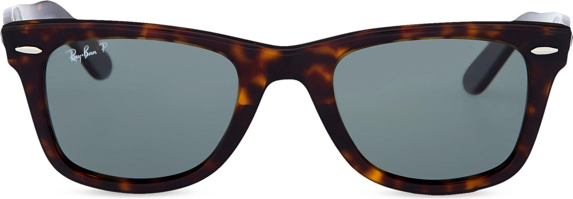 c650115711 Lyst - Ray-Ban Unisex Tortoise Effect Wayfarer Sunglasses in Brown ...