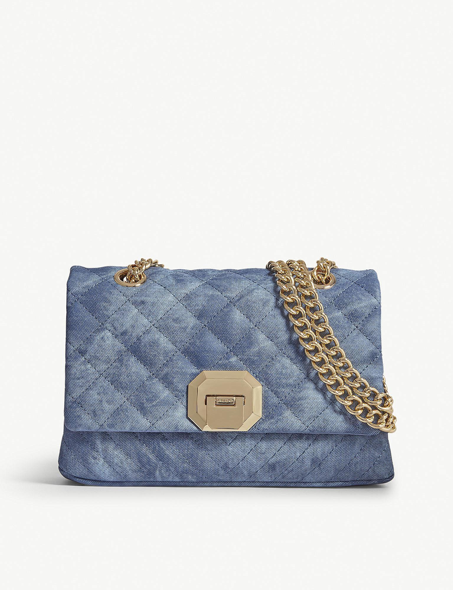 9fcc1321206 Lyst - ALDO Menifee Quilted Cross-body Bag in Blue