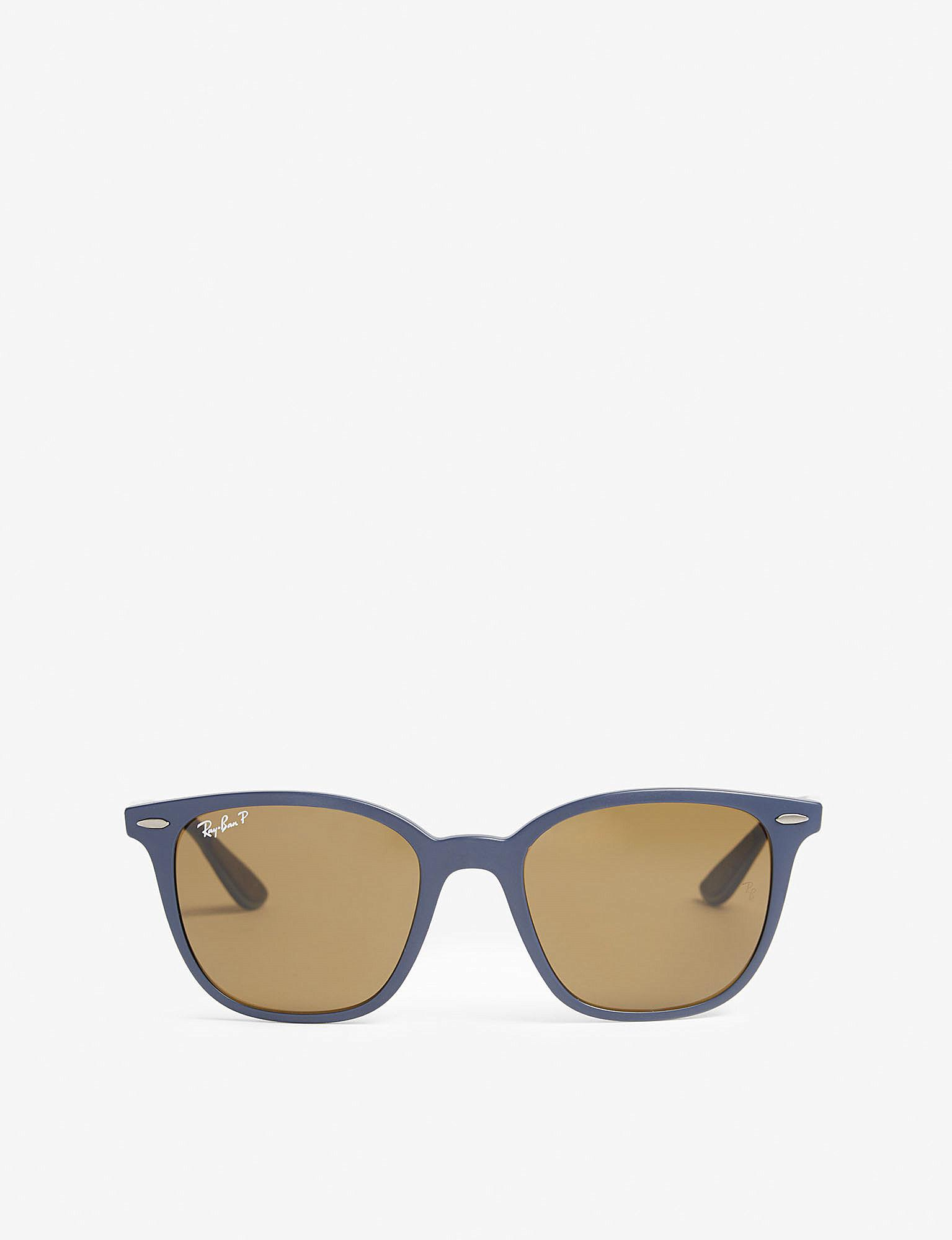 05497094bb Lyst - Ray-Ban Rb4297 Square-frame Sunglasses in Blue